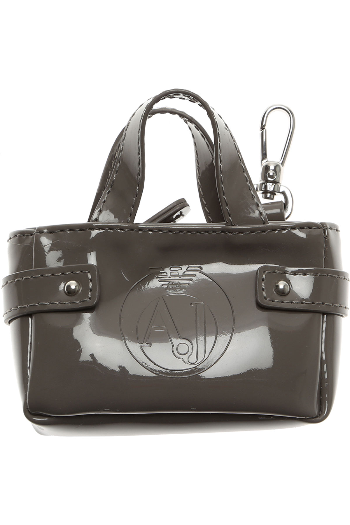 Image of Armani Jeans Key Chain for Women, Key Ring On Sale in Outlet, Taupe, PVC, 2017