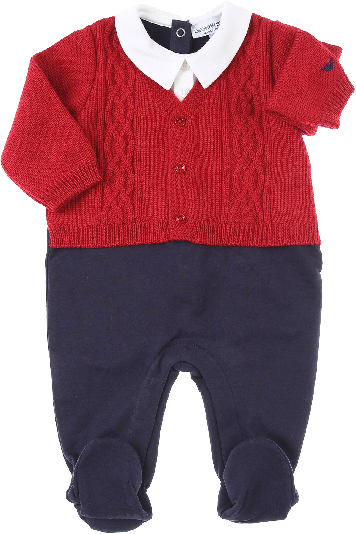 Emporio Armani Baby Bodysuits & Onesies for Boys On Sale, Red, Cotton, 2019, 1M 3M 6M