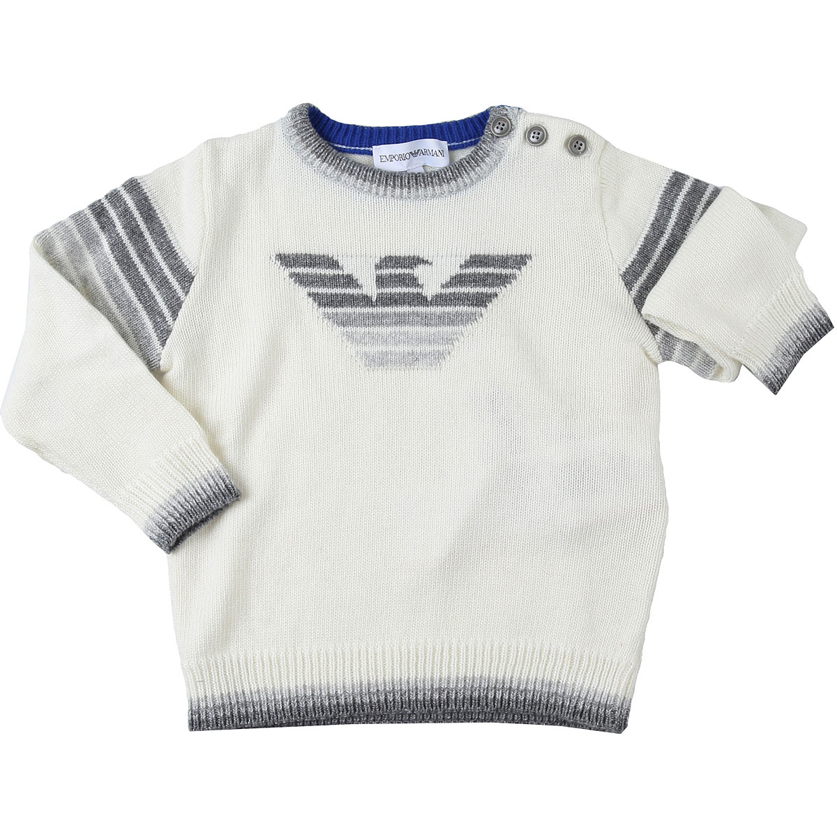 Emporio Armani Baby Sweaters for Boys On Sale, Wool White, Viscose, 2019, 12 M 18M 2Y 3Y 9M