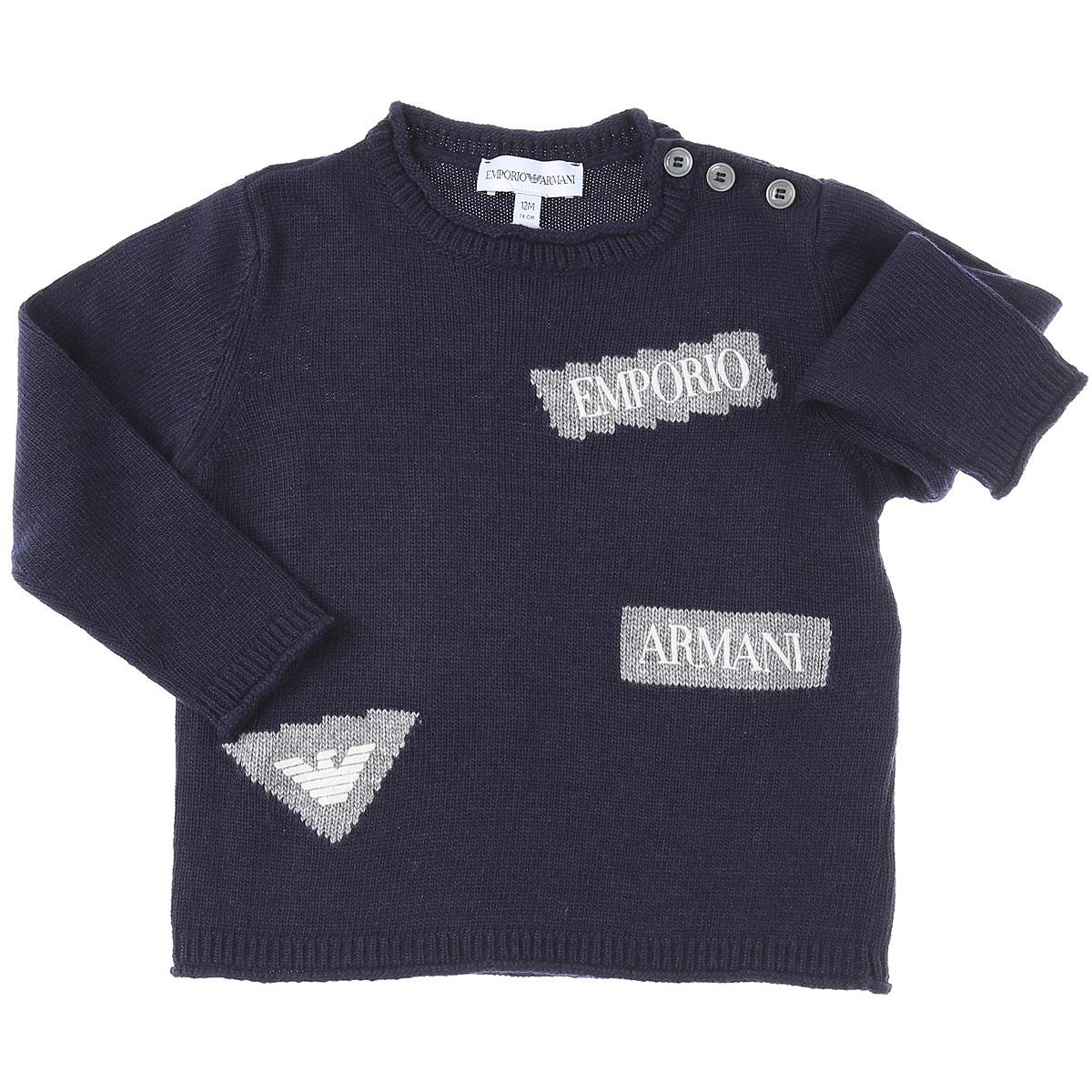 Emporio Armani Baby Sweaters for Boys On Sale, Blue Navy, Viscose, 2019, 12 M 2Y 3Y 9M