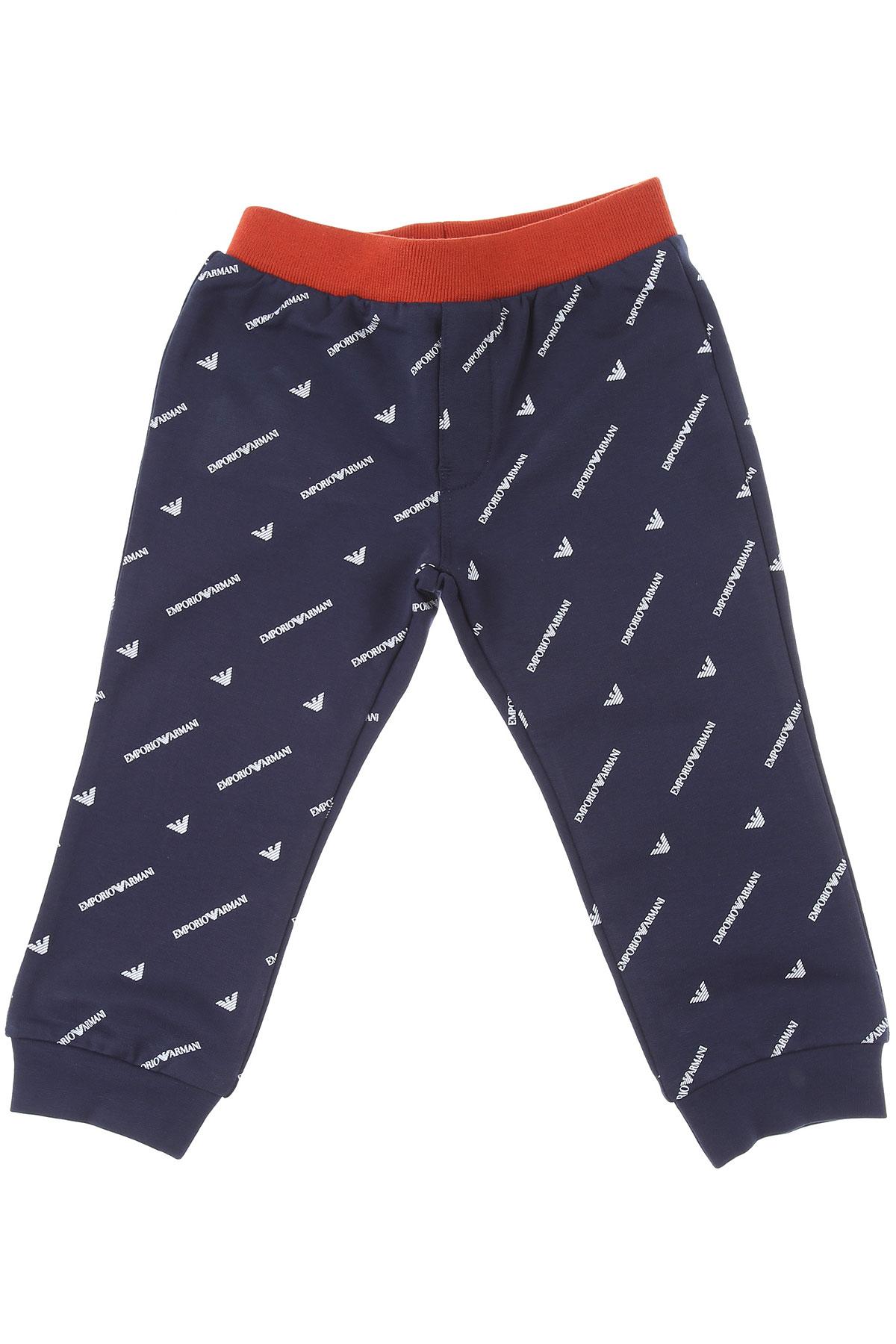 Emporio Armani Baby Sweatpants for Boys On Sale, Blue, Cotton, 2019, 18 M 2Y 3Y 9 M