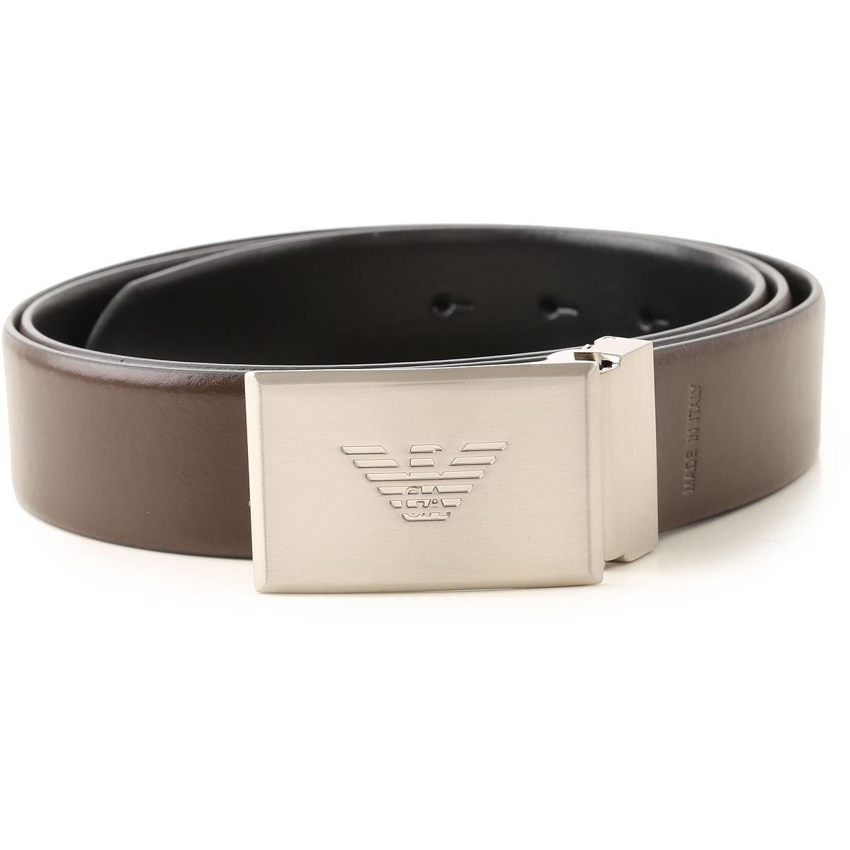 Emporio Armani Belts On Sale, Black, Leather, 2019