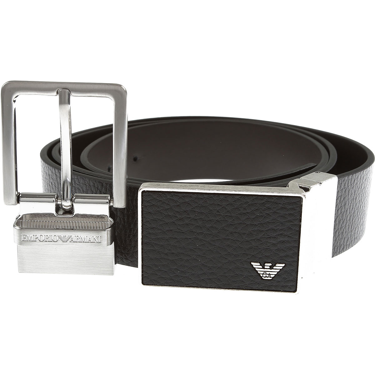 Emporio Armani Belts, Black, Leather, 2019