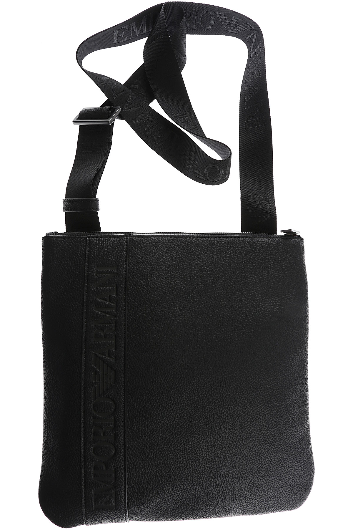Image of Emporio Armani Messenger Bag for Men, Black, Leather, 2017, one size one size