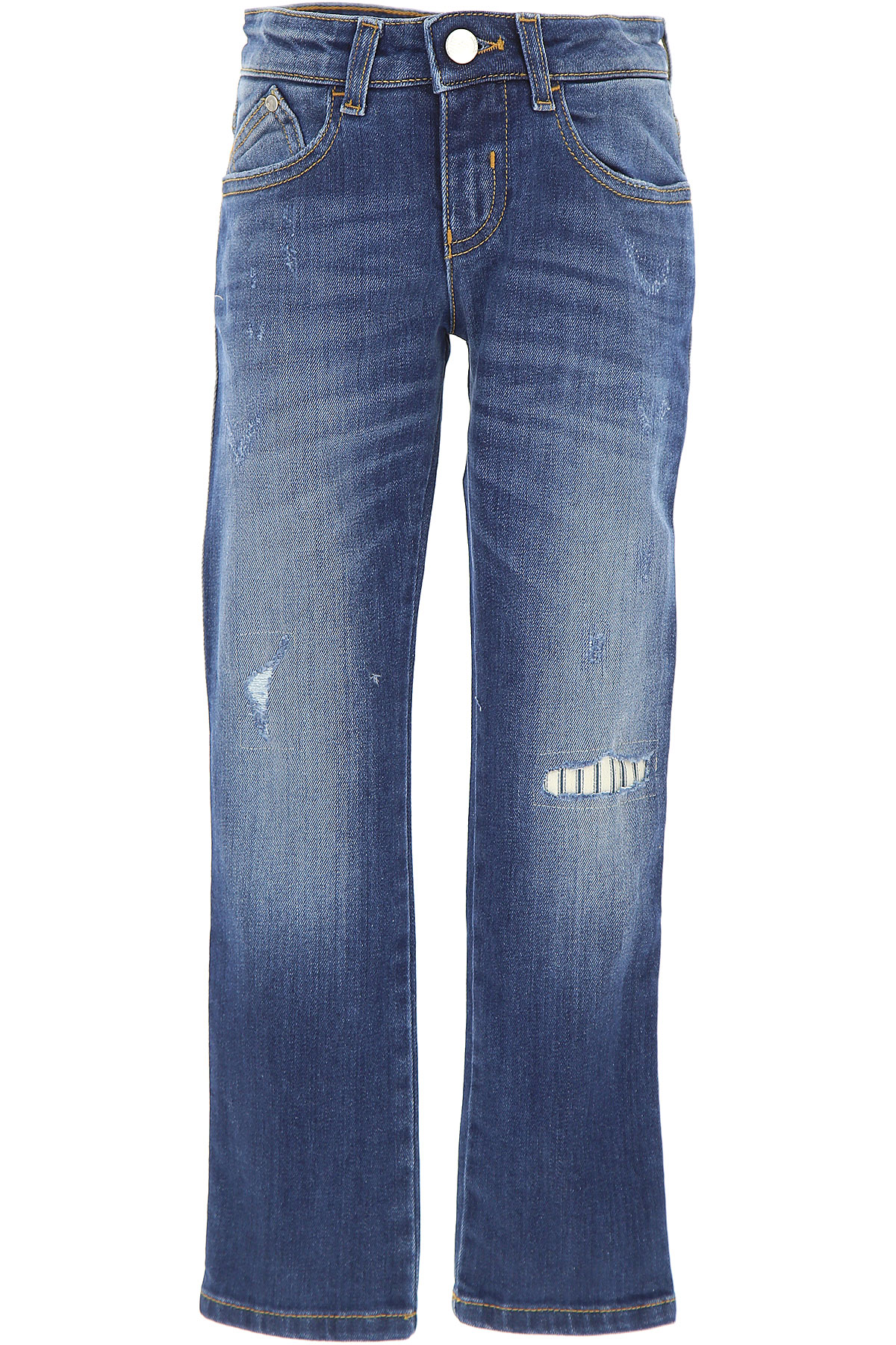 Emporio Armani Kids Jeans for Boys On Sale, Blue Denim, Cotton, 2017, 10Y 13Y 14Y 4Y 6Y 8Y 9Y USA-452119
