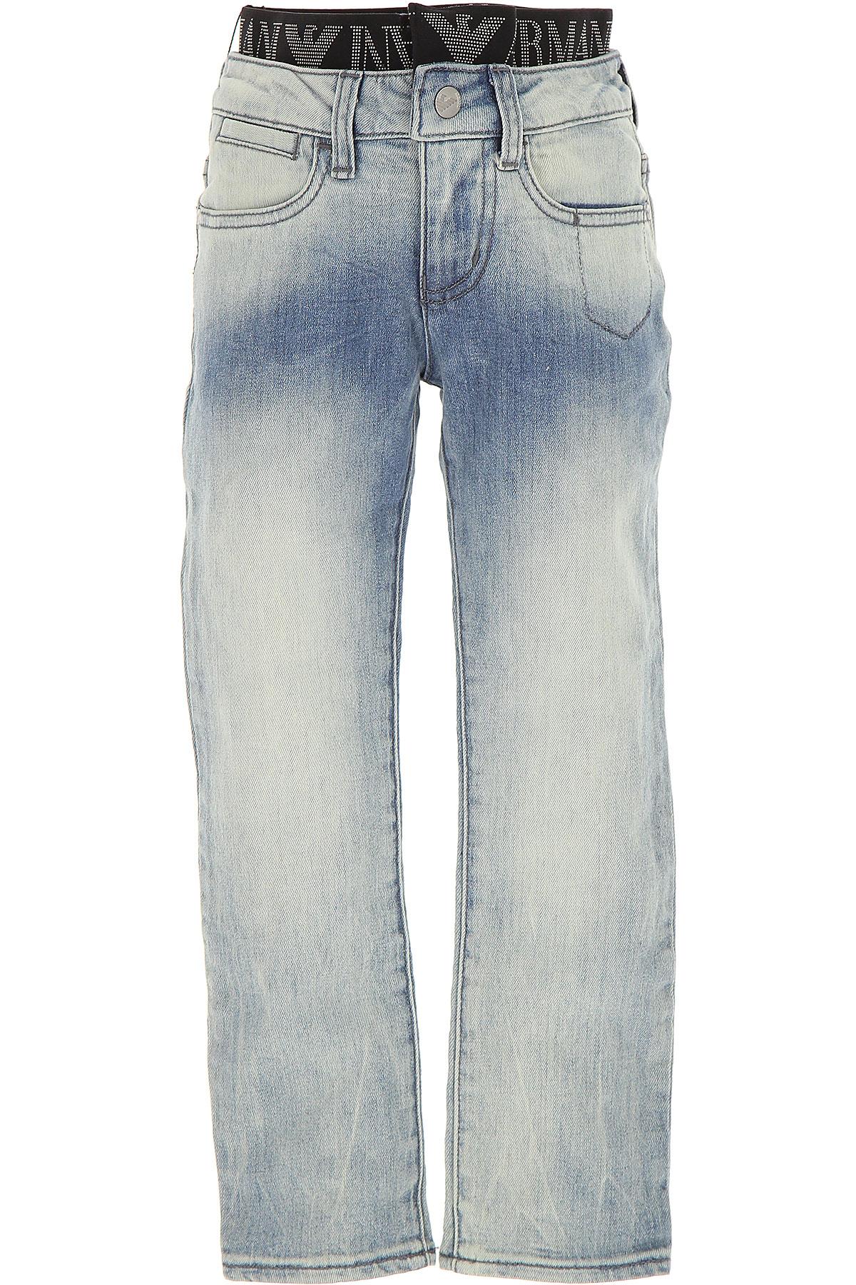 Emporio Armani Kids Jeans for Boys On Sale in Outlet, Denim, Cotton, 2017, 13Y 14Y 15Y 4Y 5Y 8Y