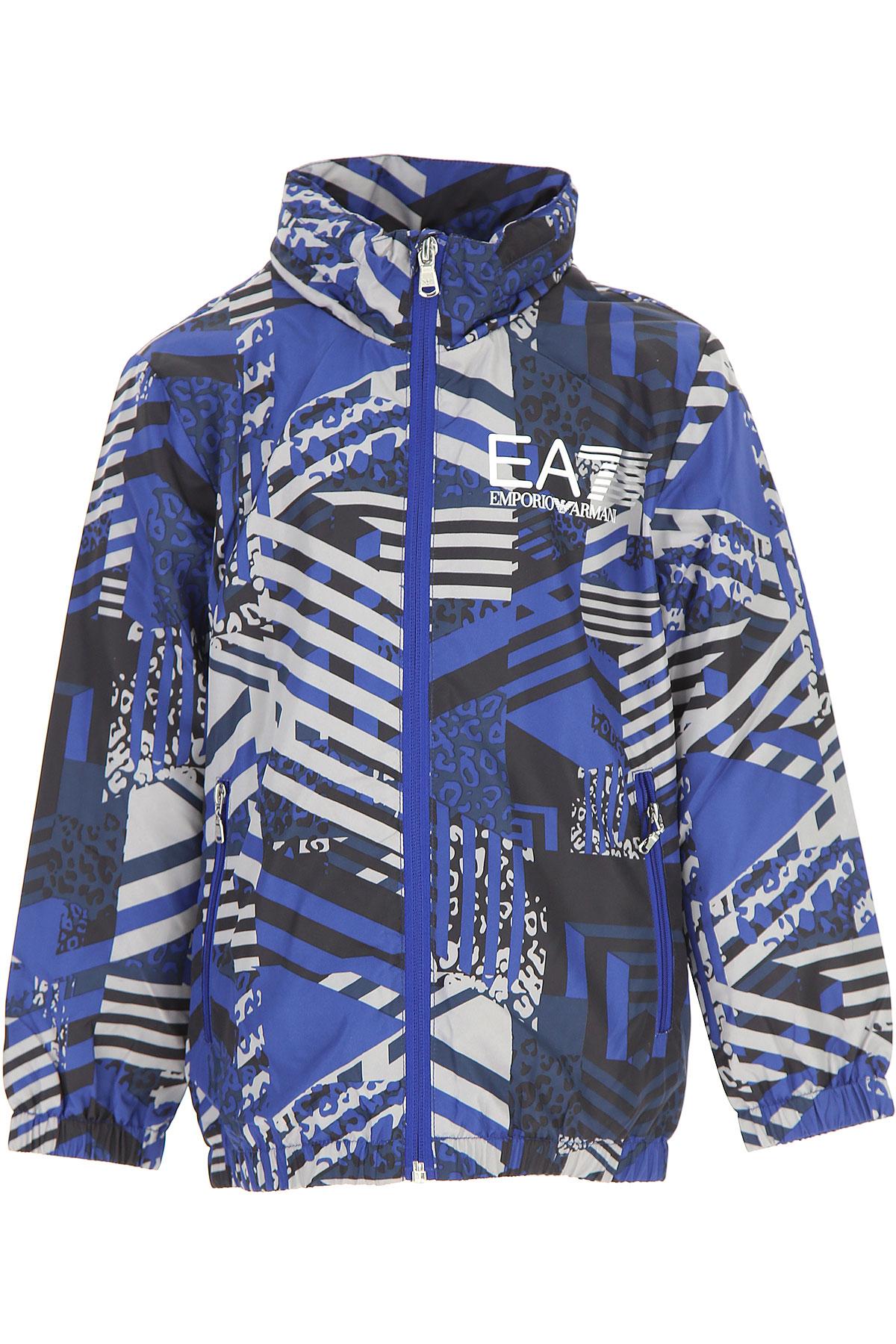 Image of Emporio Armani Kids Jacket for Boys On Sale, Blue, polyester, 2017, 10Y 4Y 6Y