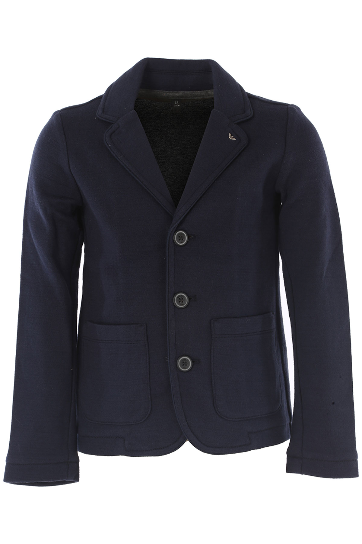 Image of Emporio Armani Kids Jacket for Boys On Sale in Outlet, Blue, Cotton, 2017, 6Y 7Y