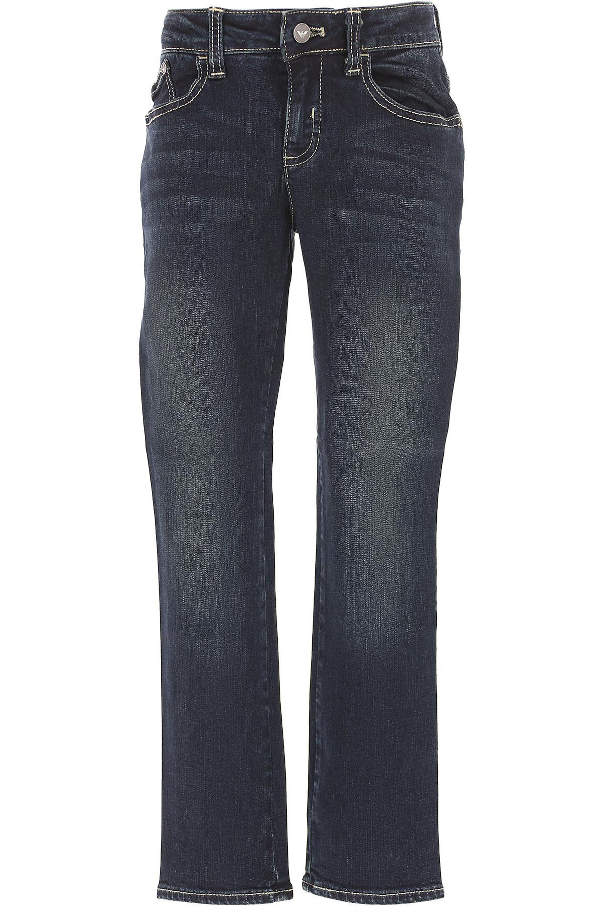 Emporio Armani Kids Jeans for Boys On Sale, Blue Denim, Cotton, 2017, 14Y 4Y 8Y 9Y USA-433198