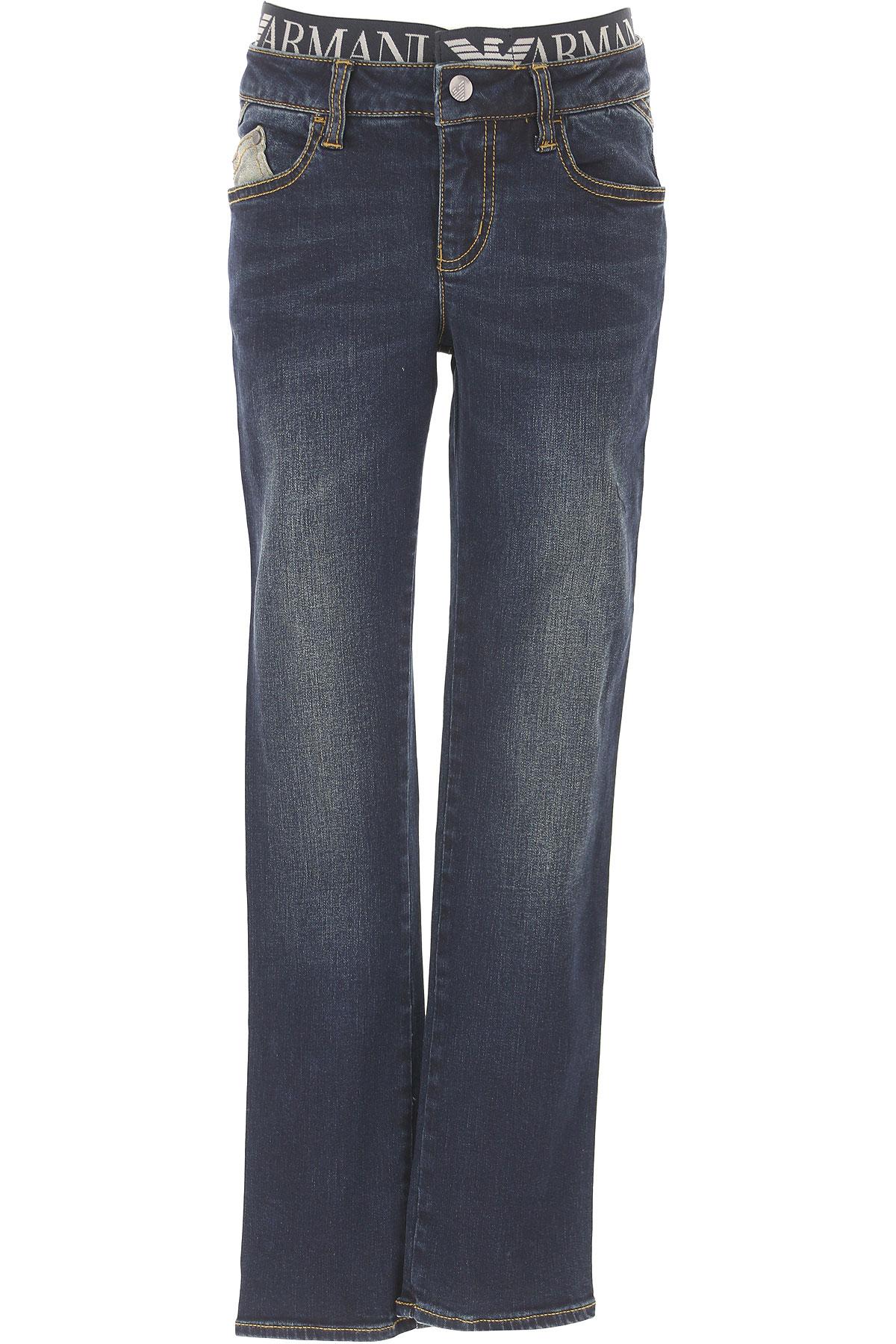 Emporio Armani Kids Jeans for Boys On Sale, dark Denim, Cotton, 2017, 10Y 4Y 8Y 9Y USA-422351