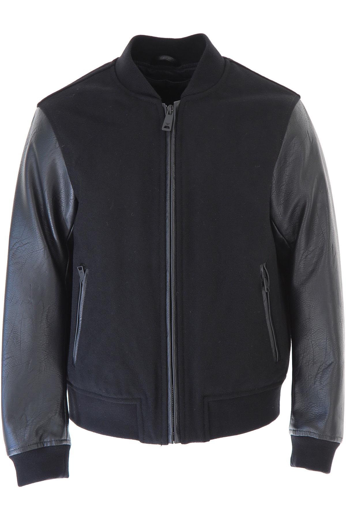 Image of Emporio Armani Kids Jacket for Boys, Black, polyamide, 2017, 10Y 14Y 16Y 8Y