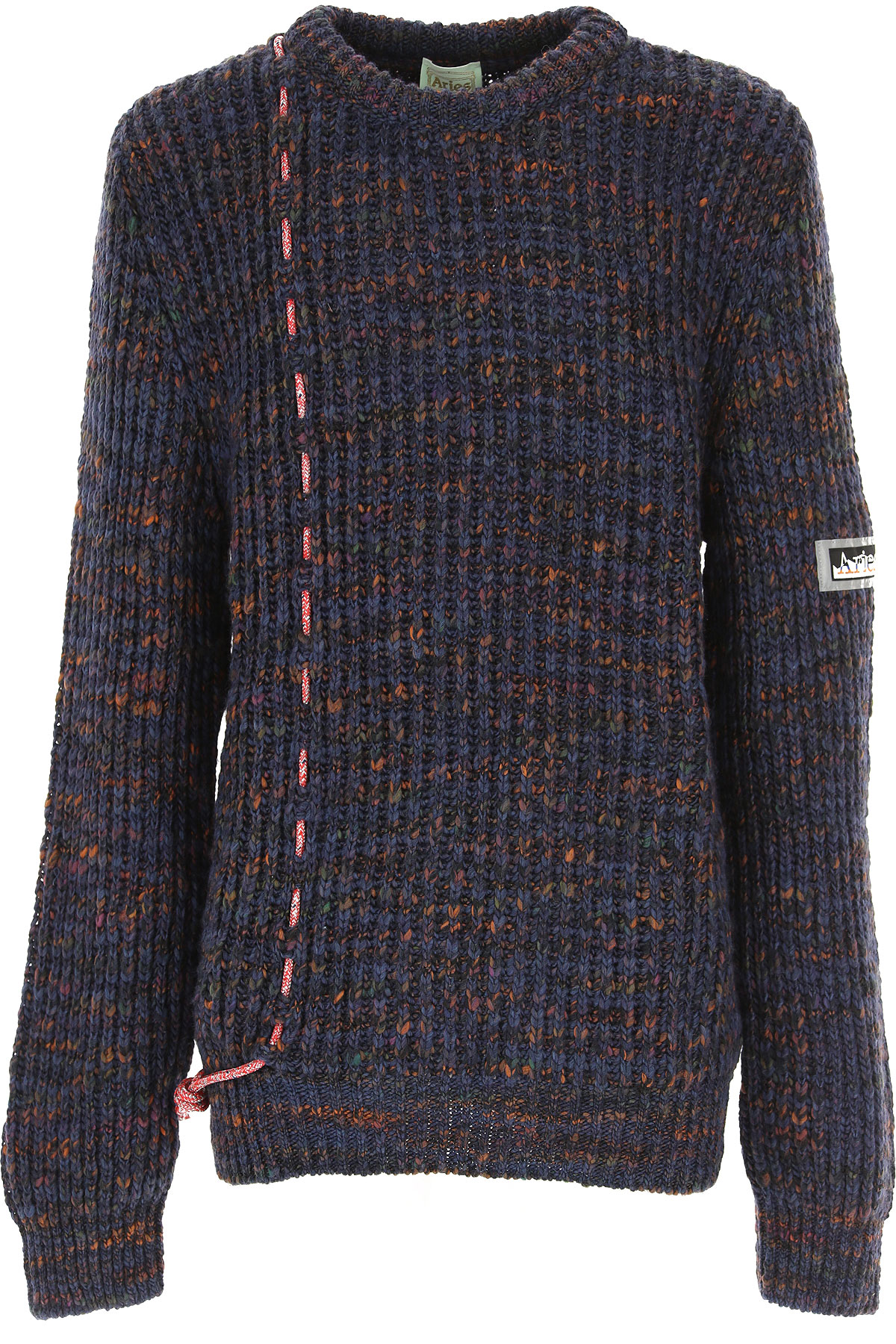 Aries Sweater for Men Jumper On Sale, Blue, Acrylic, 2019, L M S
