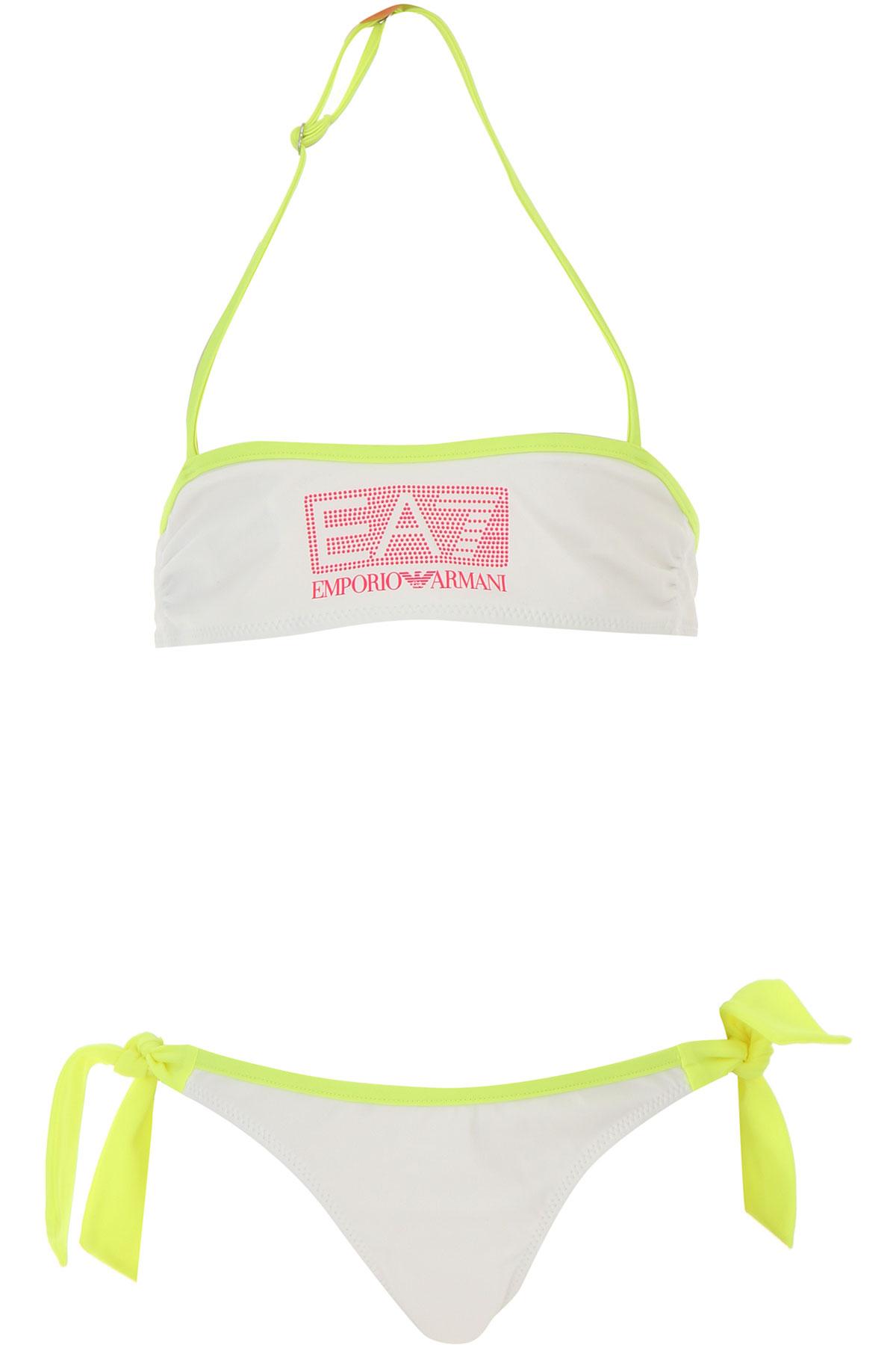 Image of Emporio Armani Swimwear On Sale, White, polyamide, 2017, 10Y 4Y 6Y 8Y