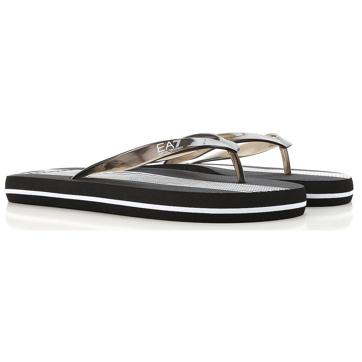 Image of Emporio Armani Flip Flops for Men On Sale, Ea7, Black, Rubber, 2017, 10.5 11.5