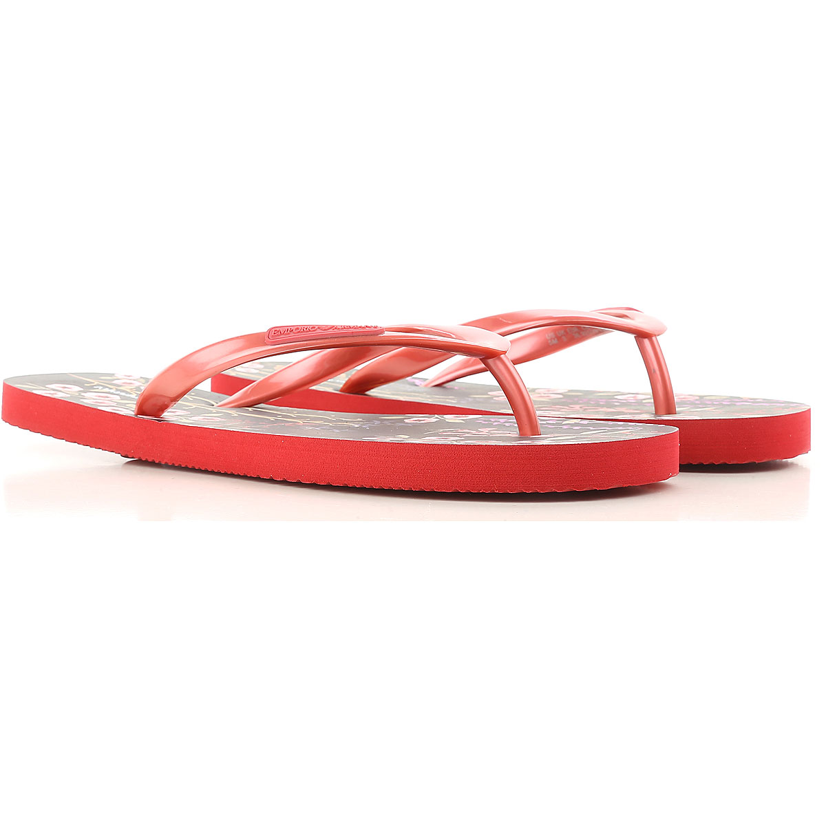 Image of Emporio Armani Flip Flops for Women, Thongs On Sale, Red, PVC, 2017, 10 11 6