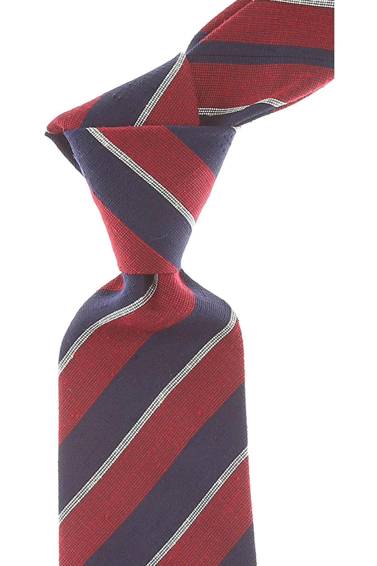 Giorgio_Armani_Ties_On_Sale_Red_Melange_Silk_2019