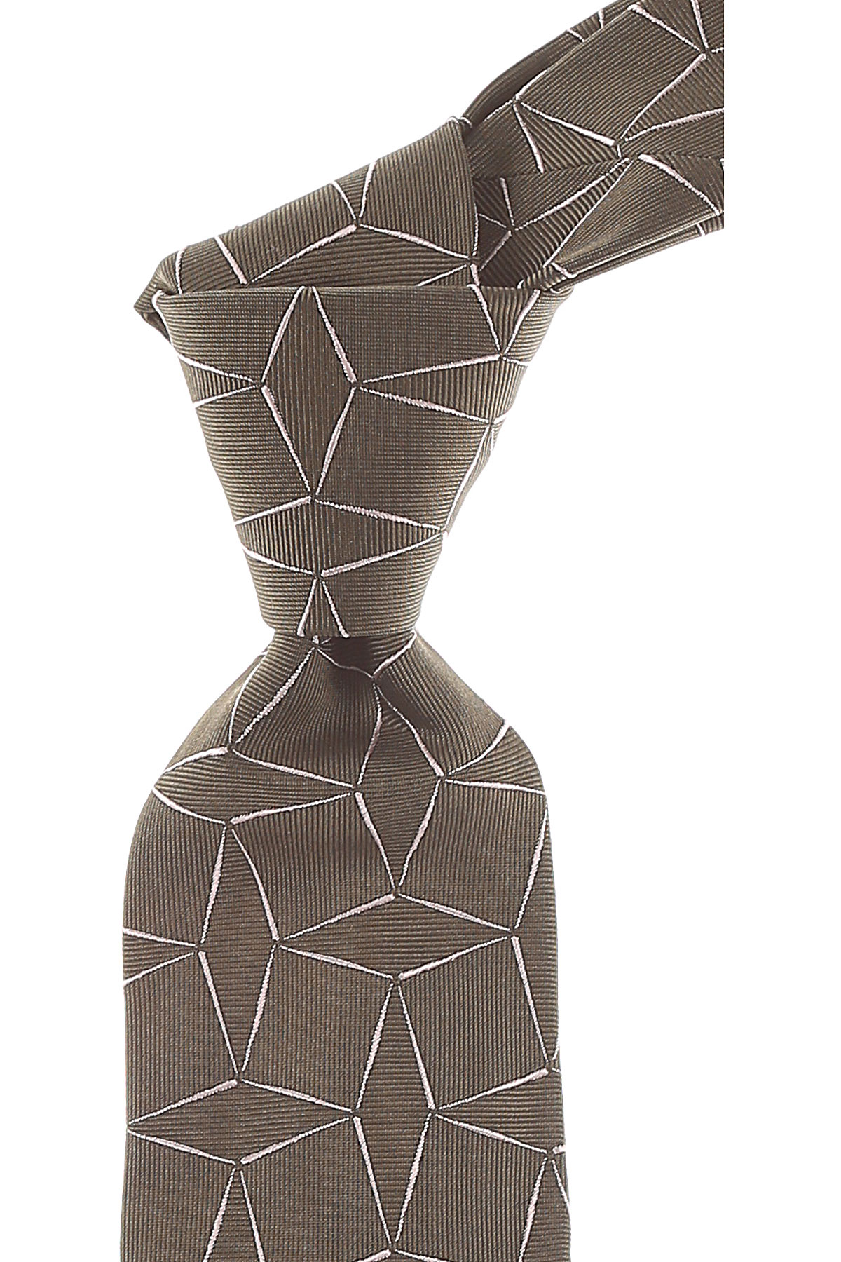 Giorgio_Armani_Ties_On_Sale_Military_Green_Silk_2019