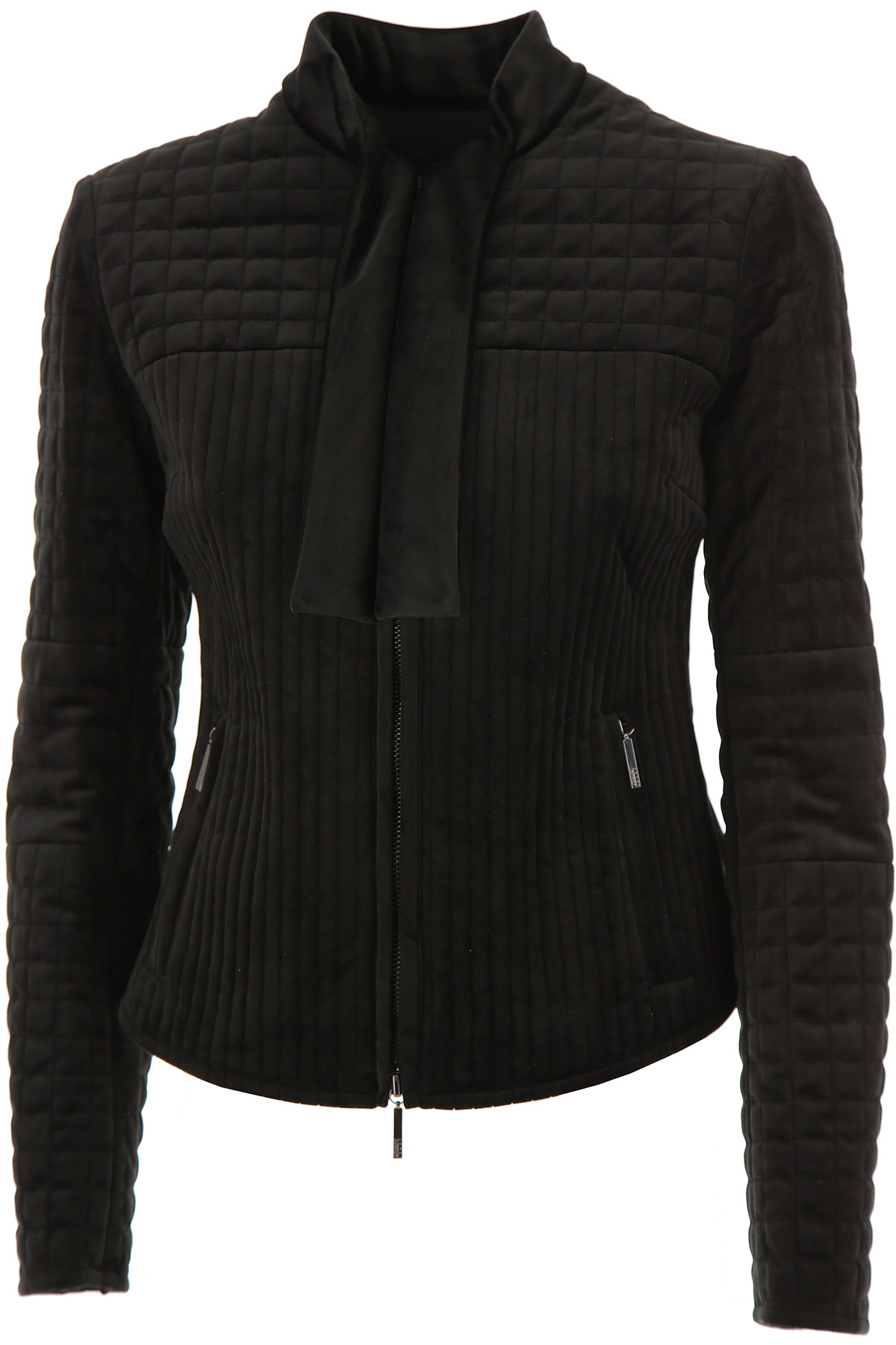 Image of Giorgio Armani Jacket for Women On Sale in Outlet, Black, polyester, 2017, 6