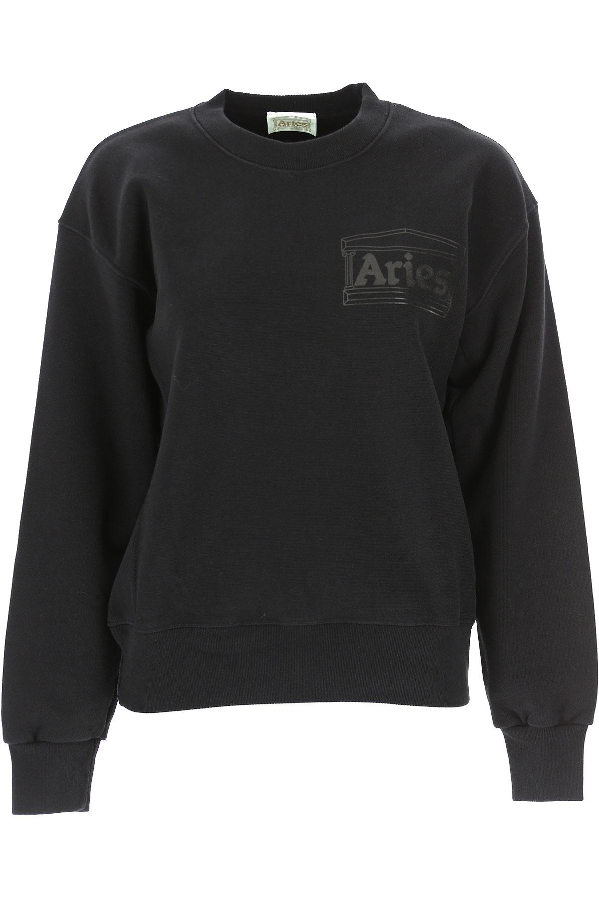 Aries Sweatshirt for Women On Sale, Black, Cotton, 2019, 4