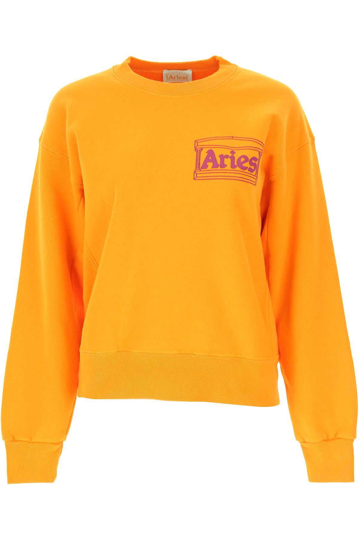 Aries Sweatshirt for Women On Sale, Orange, Cotton, 2019, 4