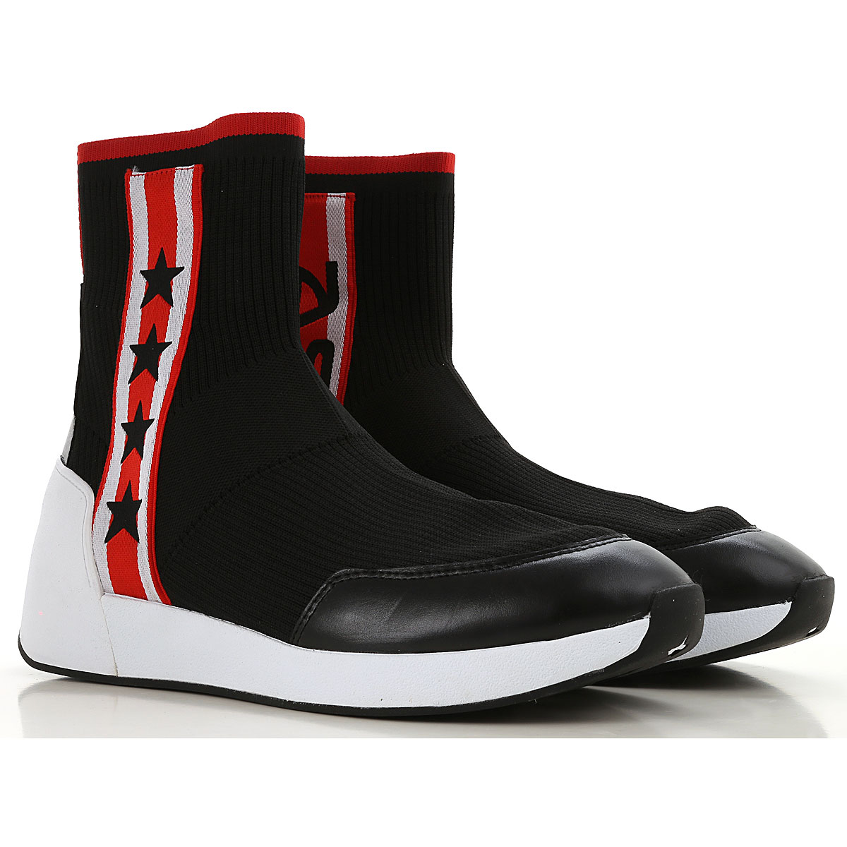 Image of Ash Boots for Men, Booties, Black, Elastic Fabric, 2017, 10 10.5 11.5 7.5 8 9