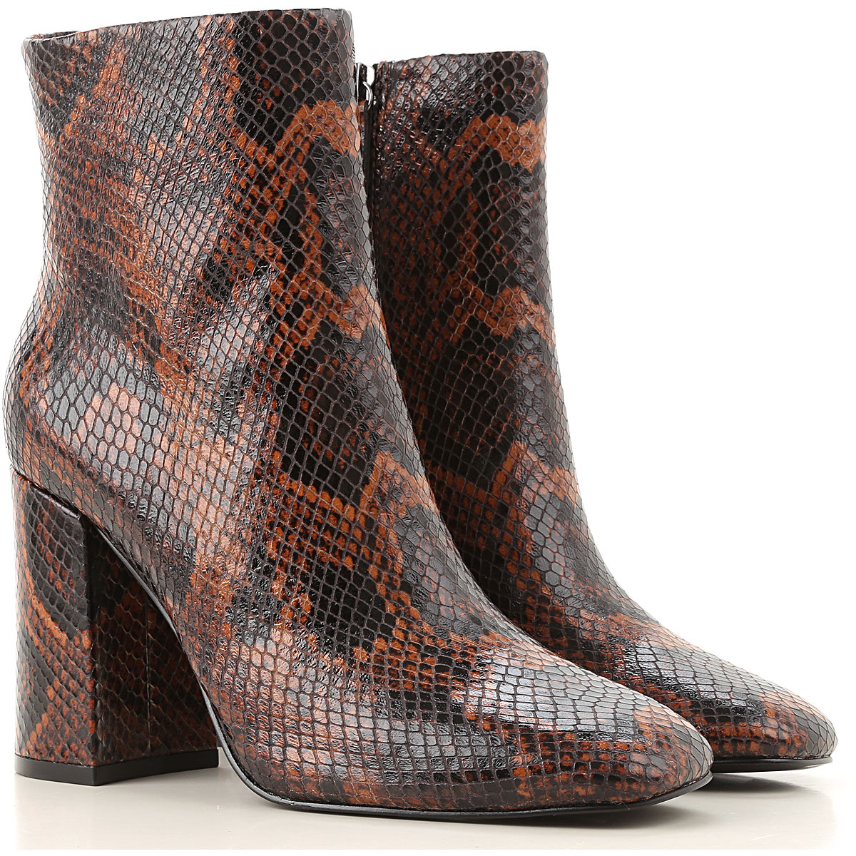 Ash Boots for Women, Booties On Sale, Cognac, Leather, 2019, 10 6 8 9