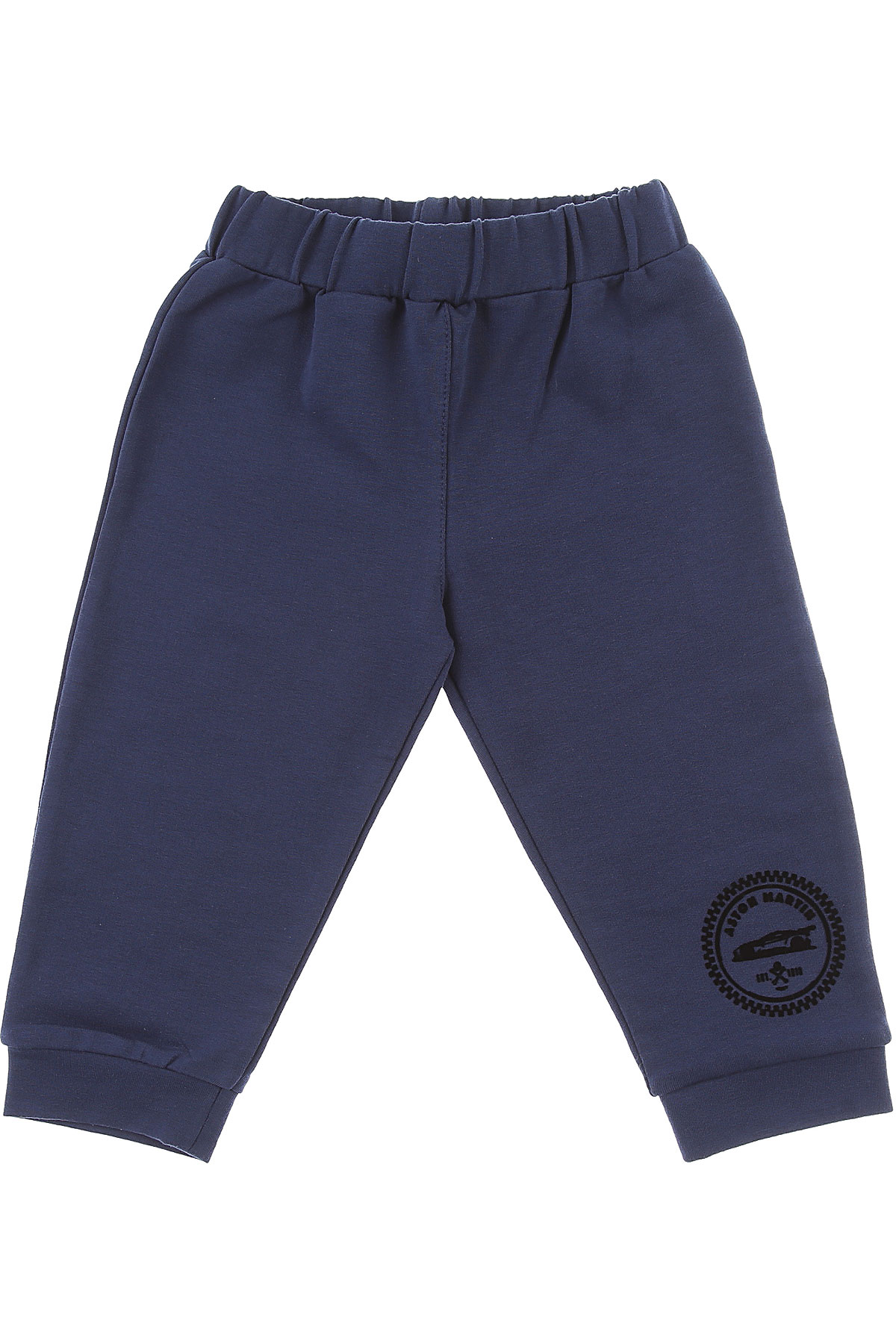 Image of Aston Martin Baby Pants for Boys, Navy Blue, Cotton, 2017, 12M 18M 6M 9M
