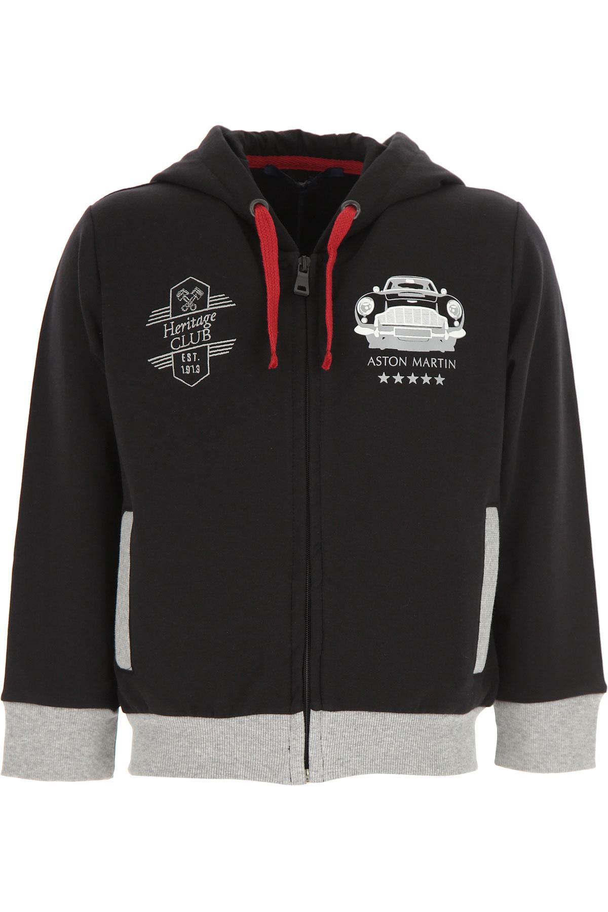 Image of Aston Martin Kids Sweatshirts & Hoodies for Boys, Black, Cotton, 2017, 10Y 14Y 16Y 2Y 4Y 6Y 8Y