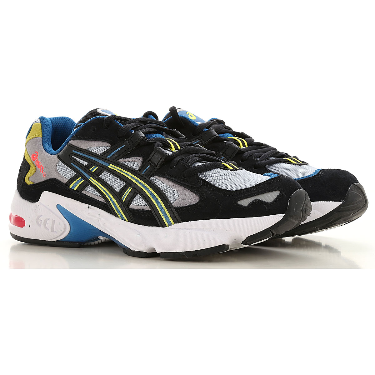 Asics Sneakers for Men On Sale in Outlet, Grey, Leather, 2019, 8 9.5
