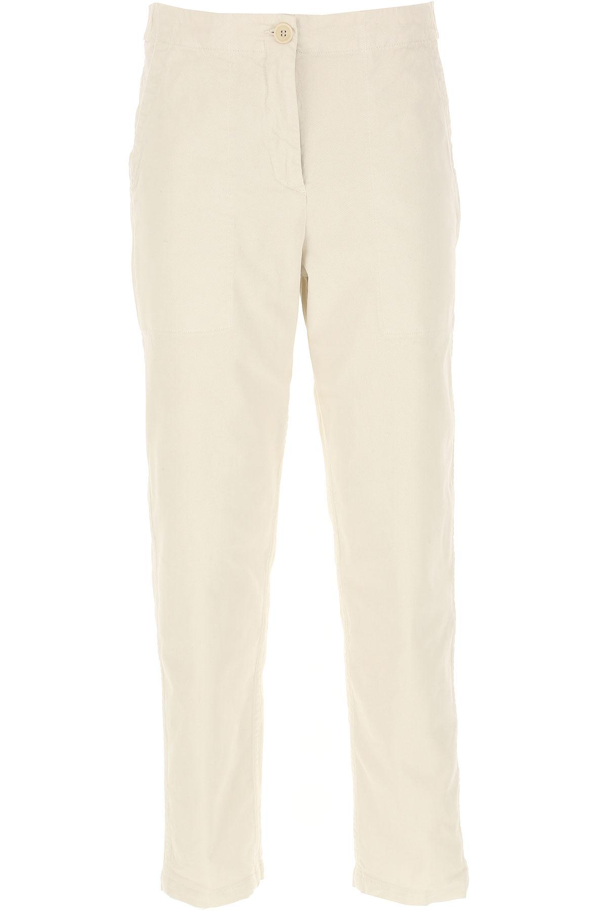 Aspesi Pants for Women On Sale, Cream, Cotton, 2019, 26 30