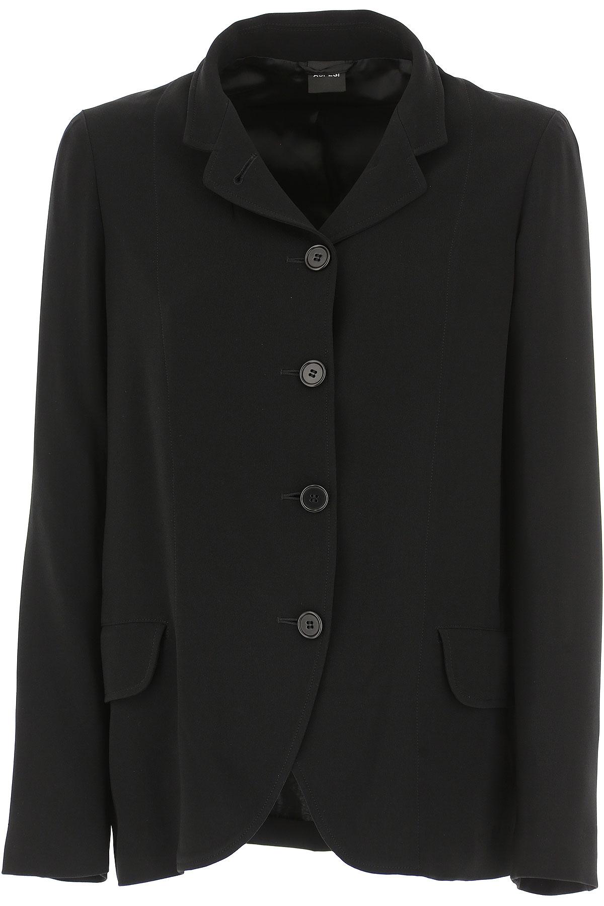 Image of Aspesi Jacket for Women, Black, Triacetate, 2017, 10 4 6 8