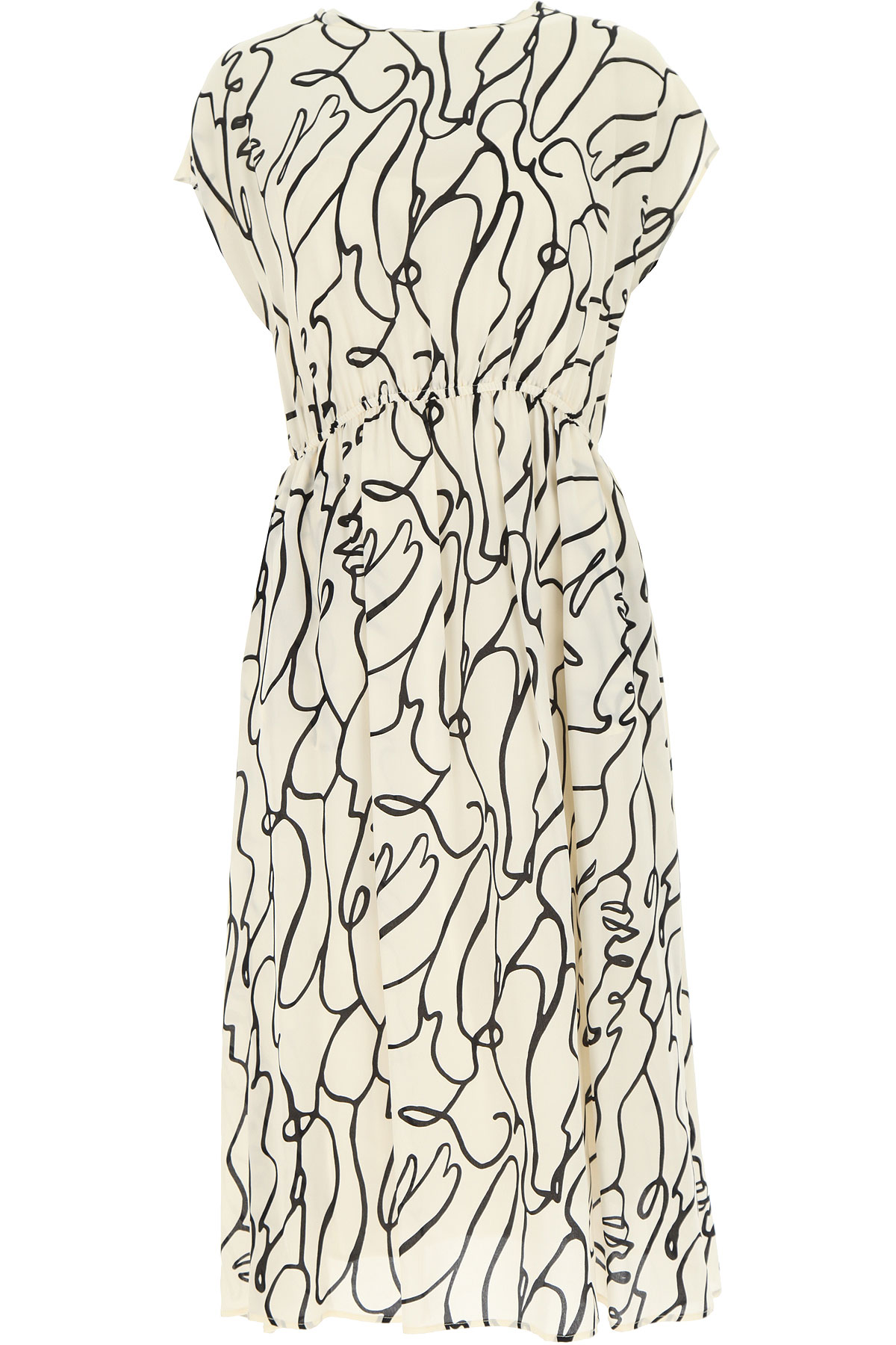 Aspesi Dress for Women, Evening Cocktail Party On Sale, Rice, Viscose, 2019, 4 6