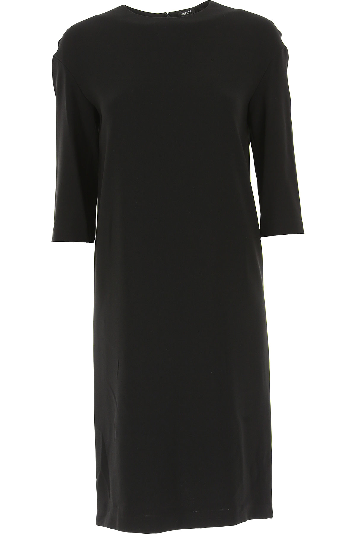 Image of Aspesi Dress for Women, Evening Cocktail Party, Black, Triacetate, 2017, 4 6 8