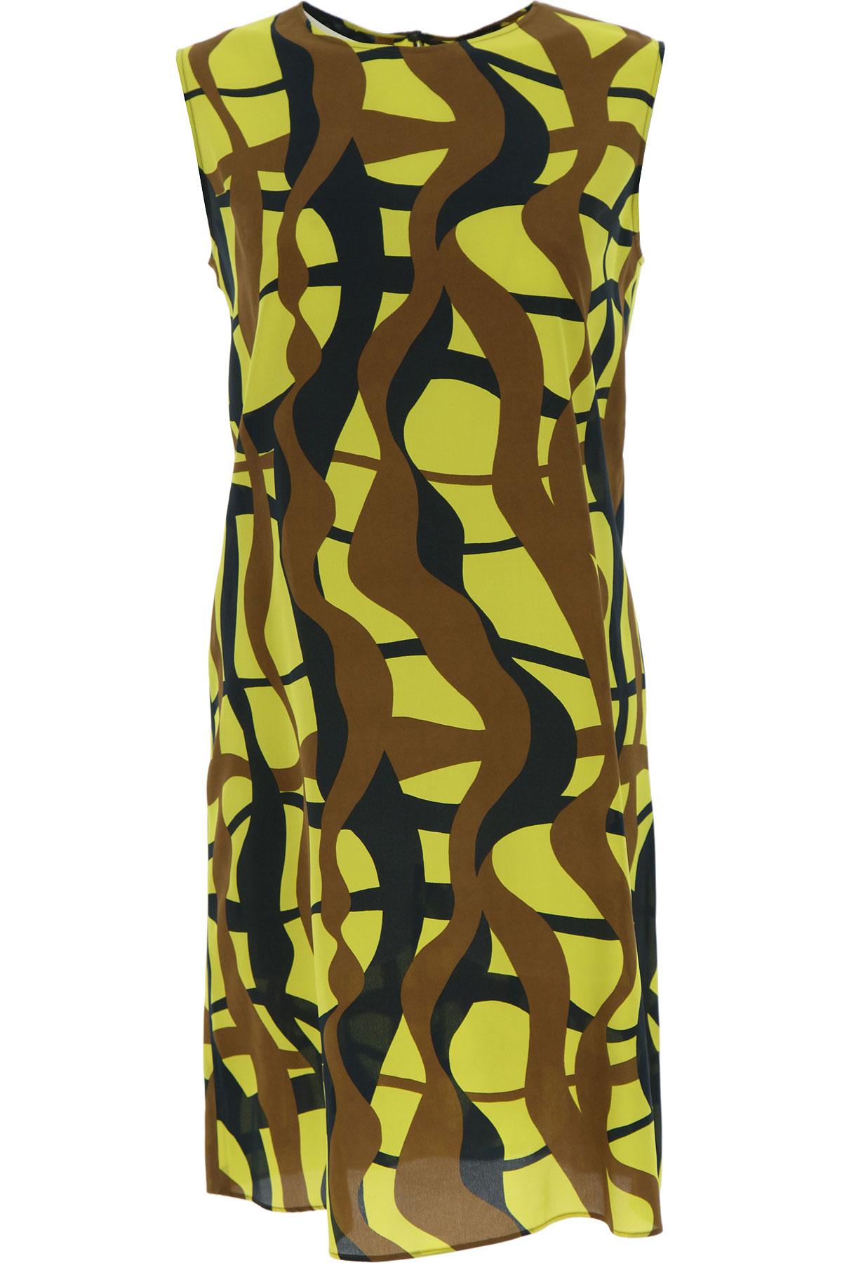 Aspesi Dress for Women, Evening Cocktail Party On Sale, Yellow, Silk, 2019, 4 6 8