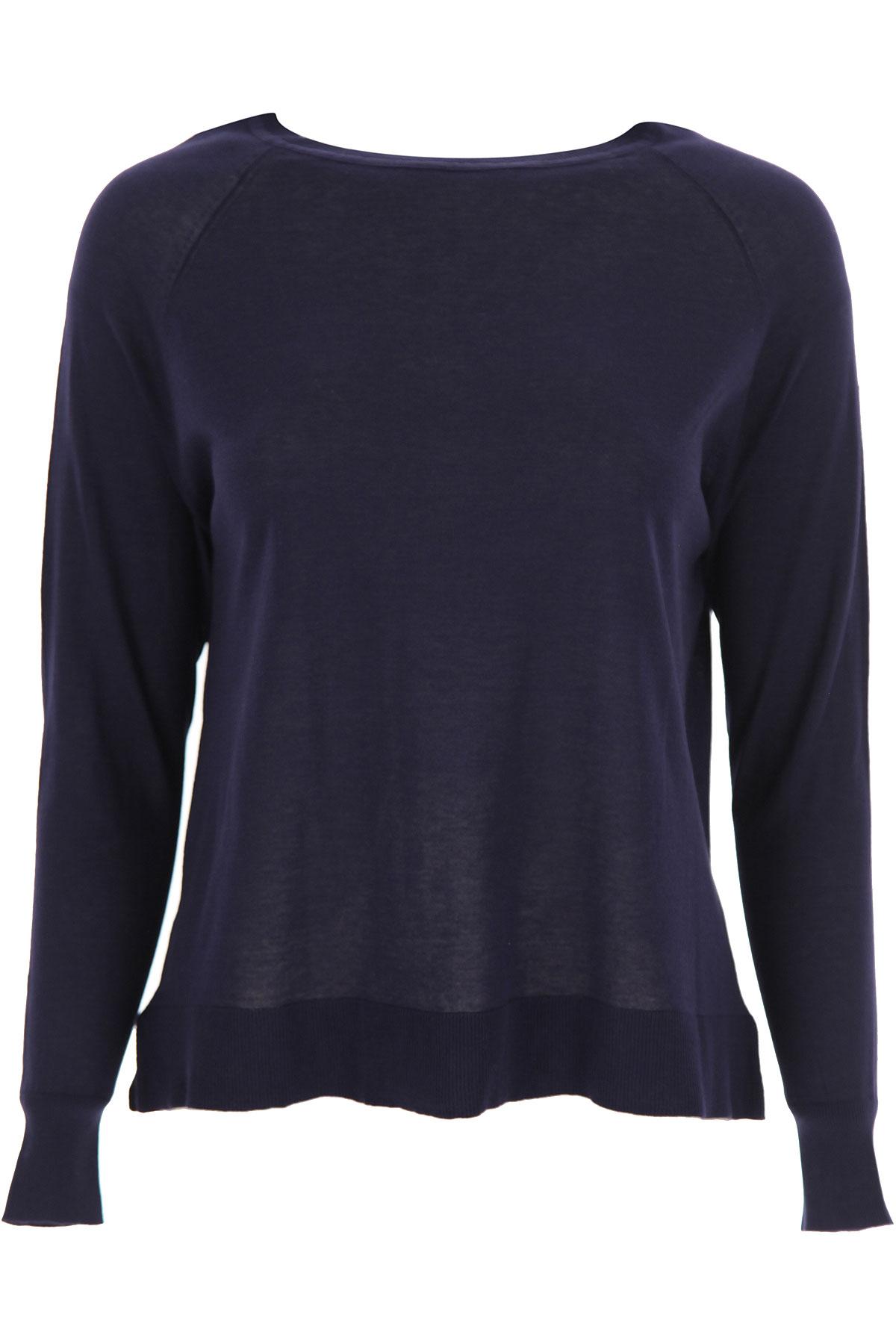 Aspesi Sweater for Women Jumper On Sale, Blue Navy, Cotton, 2019, 4 6