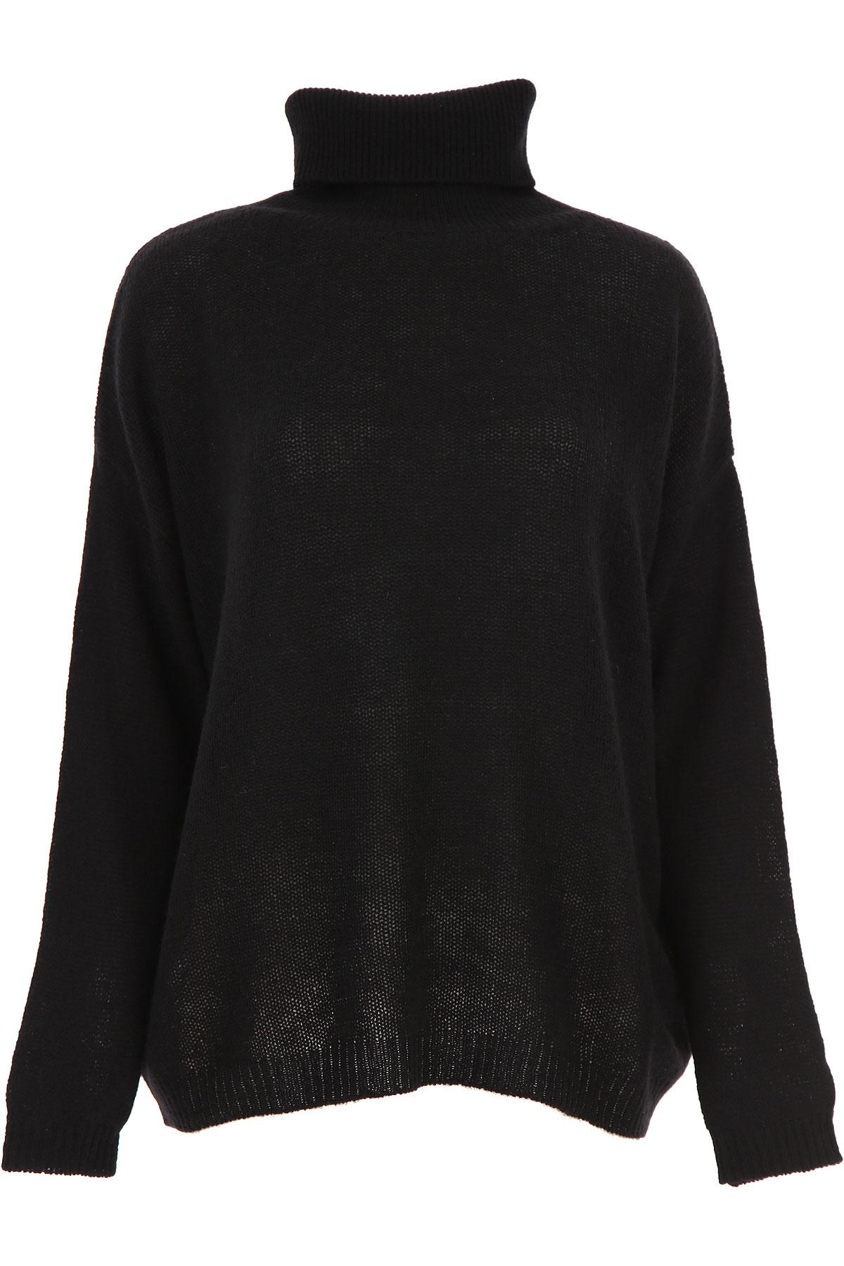 Aspesi Sweater for Women Jumper On Sale, Black, Yack, 2019, 2 4