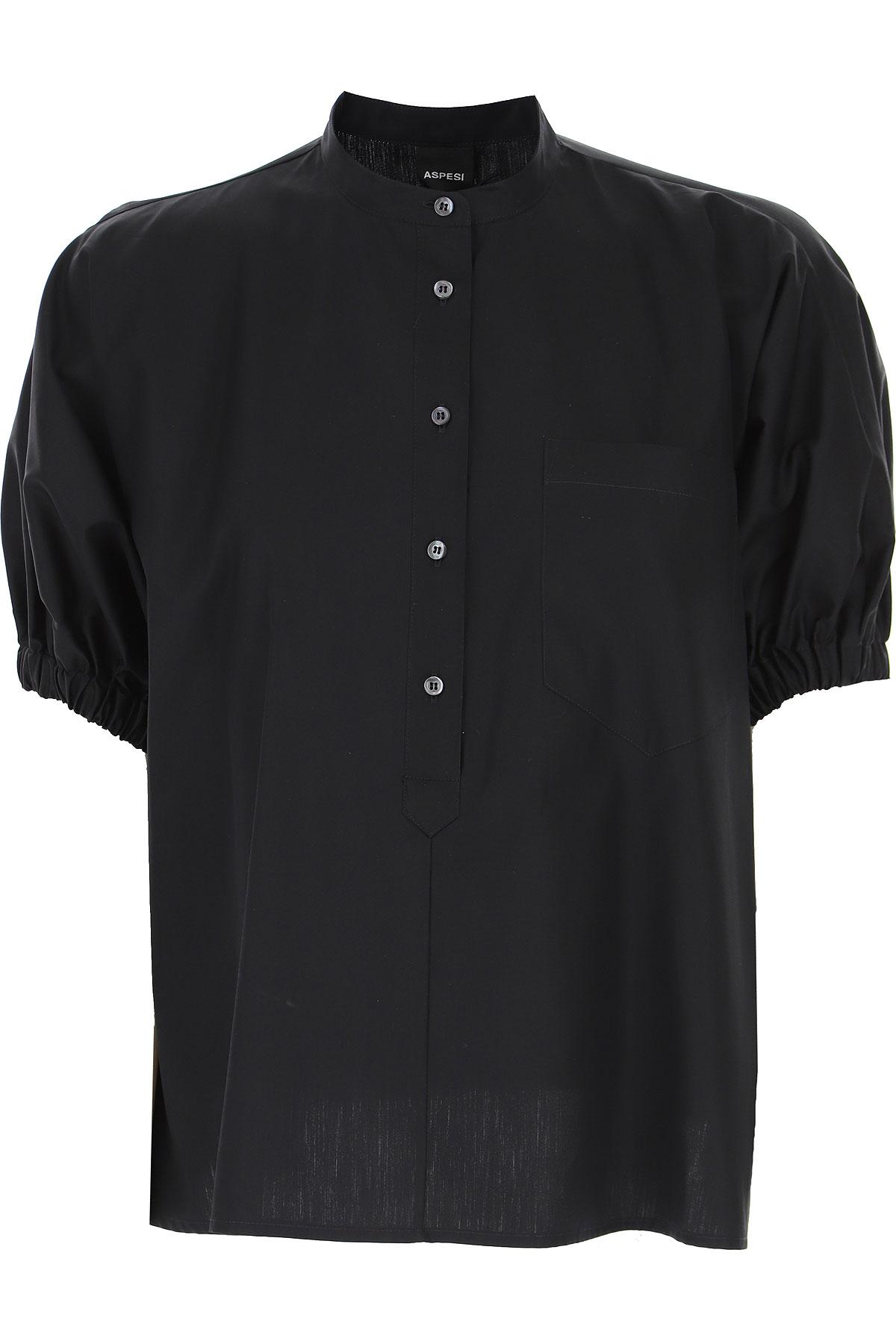 Aspesi Shirt for Women On Sale, Black, Cotton, 2019, S (IT 40) M (IT 42 )