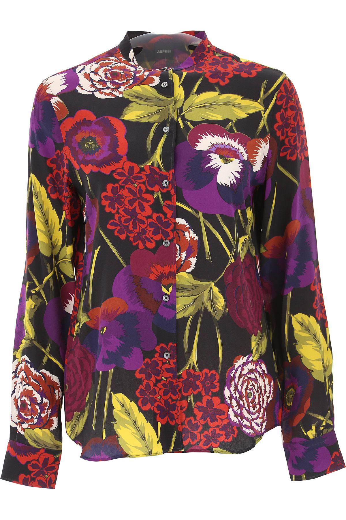 Image of Aspesi Shirt for Women, Black, Silk, 2017, 26 32