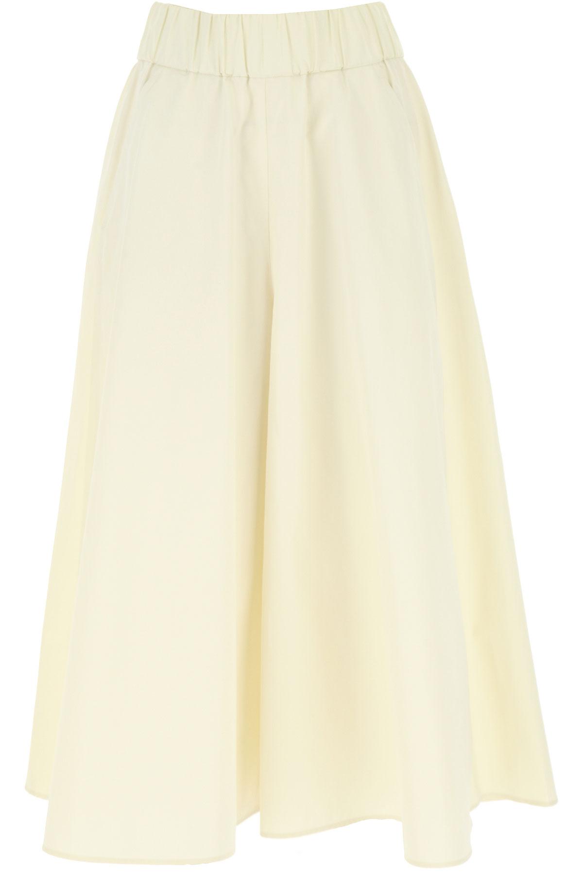 Aspesi Pants for Women On Sale, Cream White, Cotton, 2019, 24 28