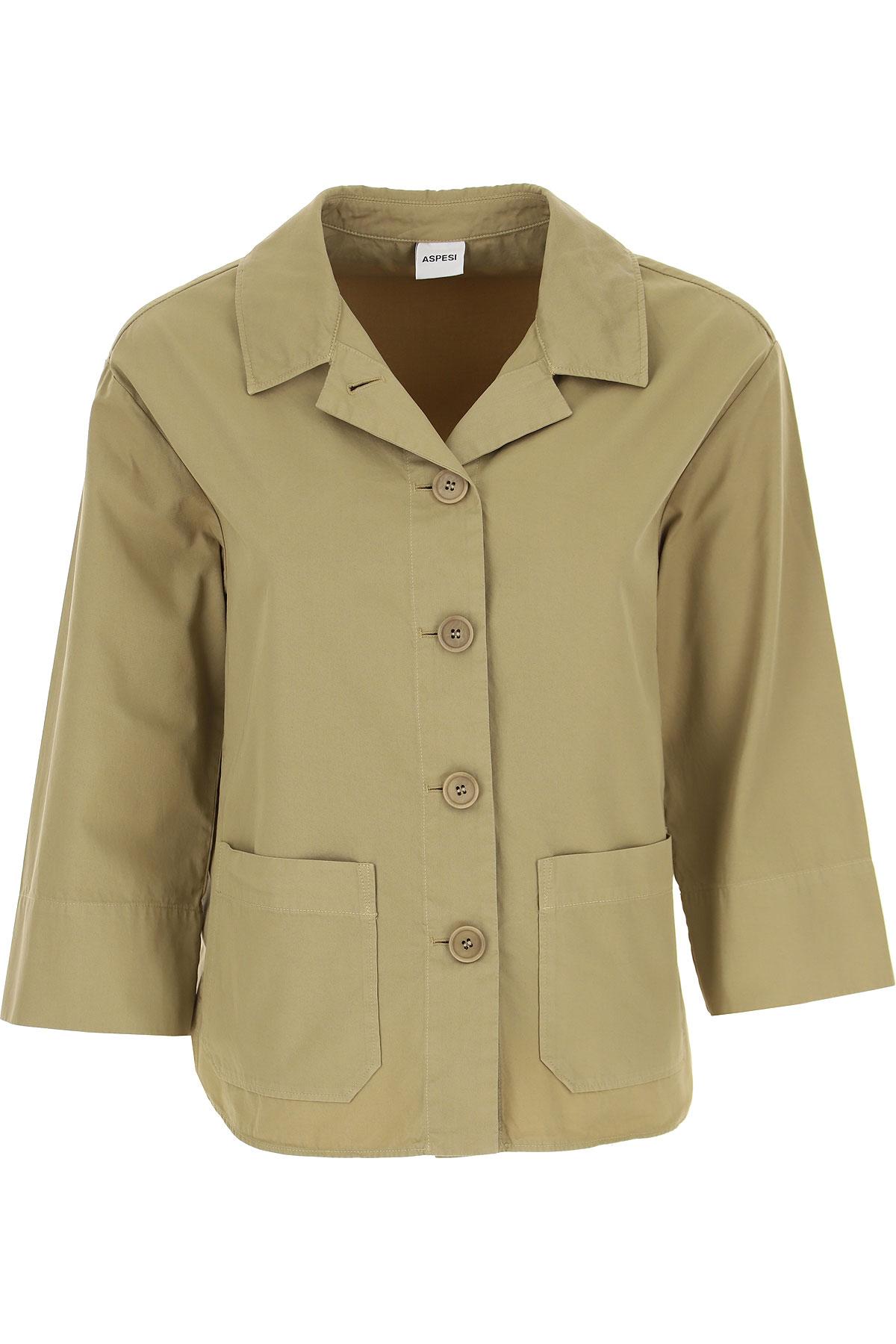 Aspesi Jacket for Women On Sale, Fern Green, Cotton, 2019, 4 6 8