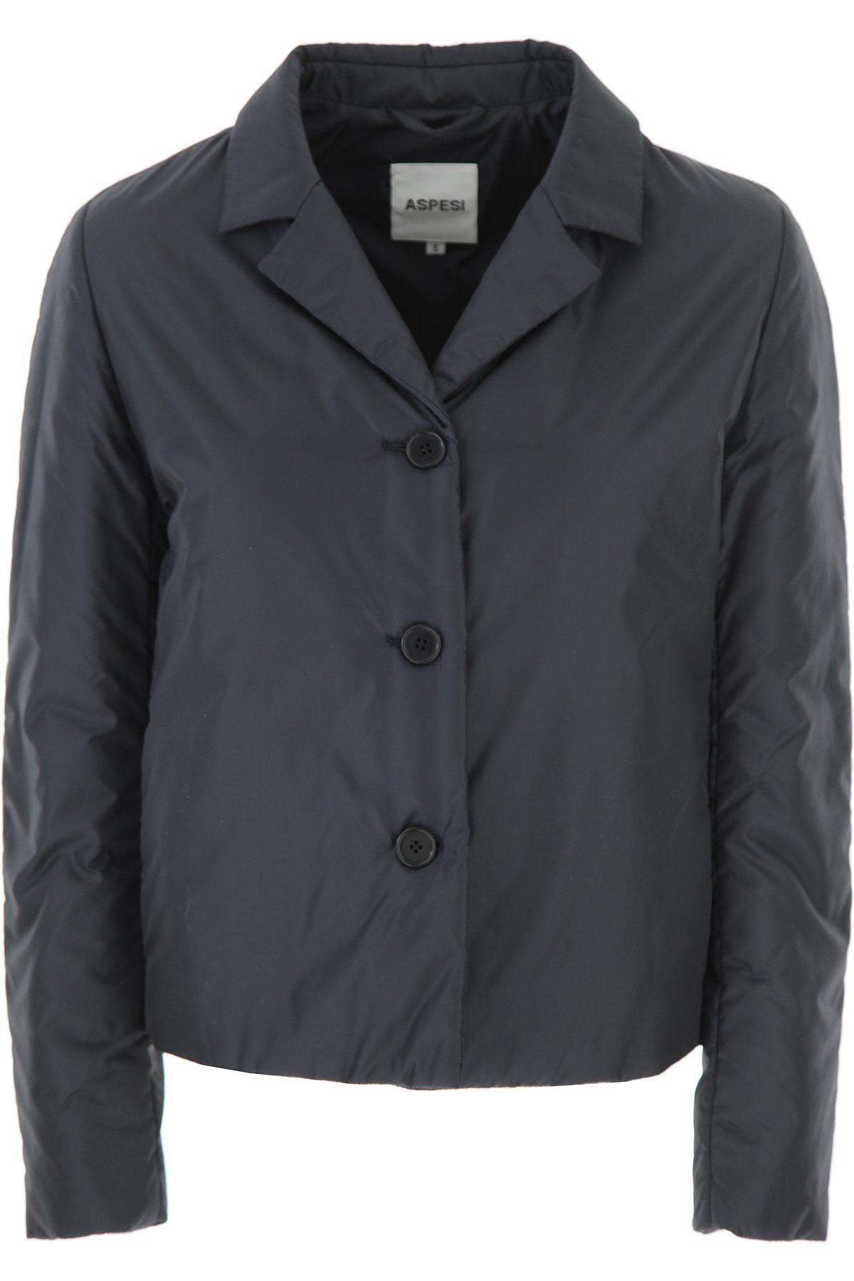 Aspesi Jacket for Women On Sale, Blue Ink, polyamide, 2019, 4 6 8