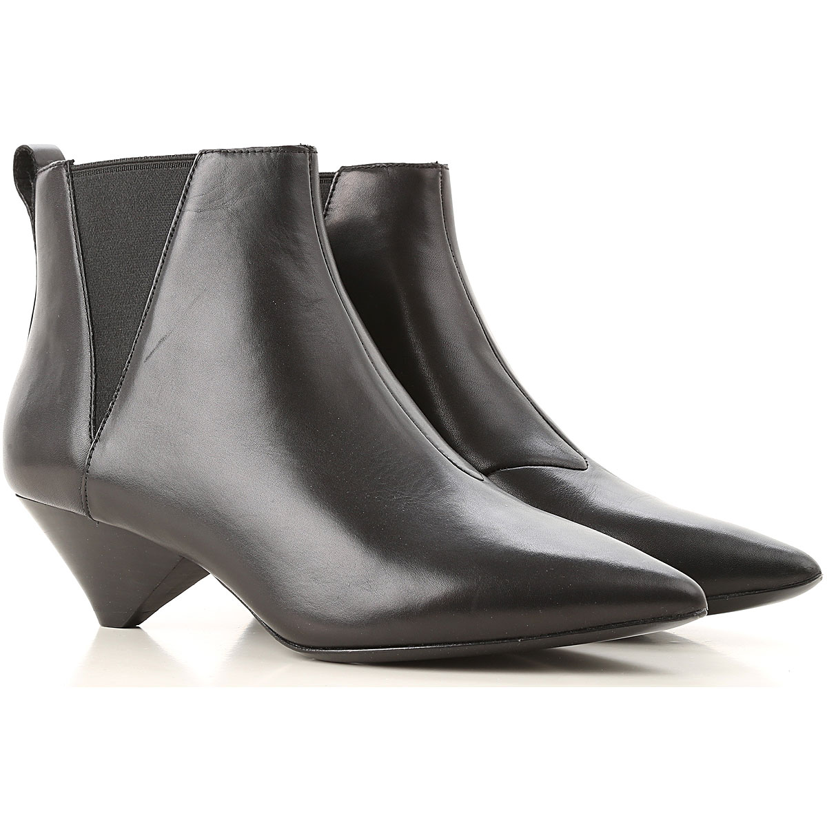 Image of Ash Boots for Women, Booties, Black, Leather, 2017, 10 5 6 7 8