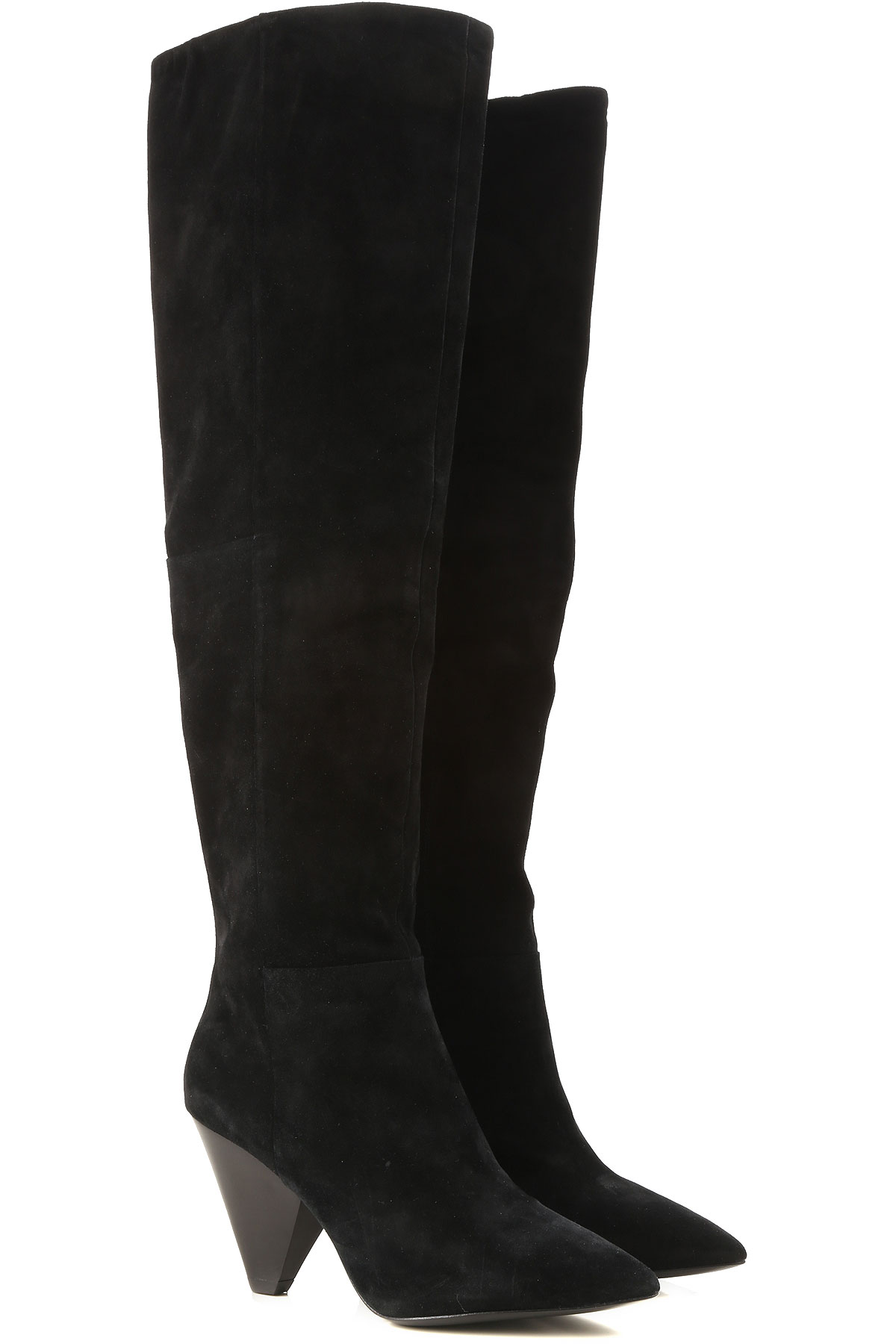 Image of Ash Boots for Women, Booties, Black, Suede leather, 2017, 10 6 7 8