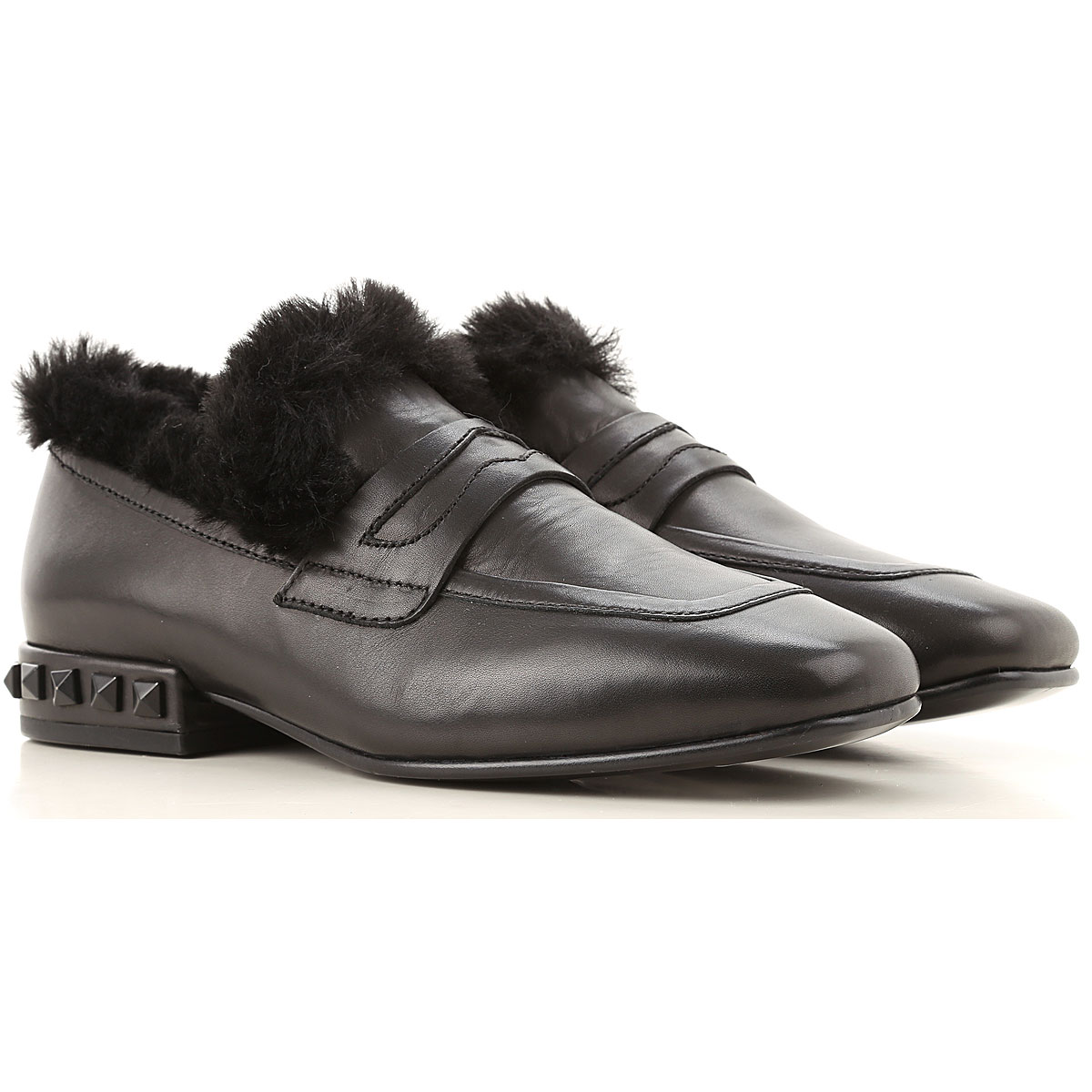 Ash Loafers for Women On Sale in Outlet, Black, Leather, 2019, 6 7
