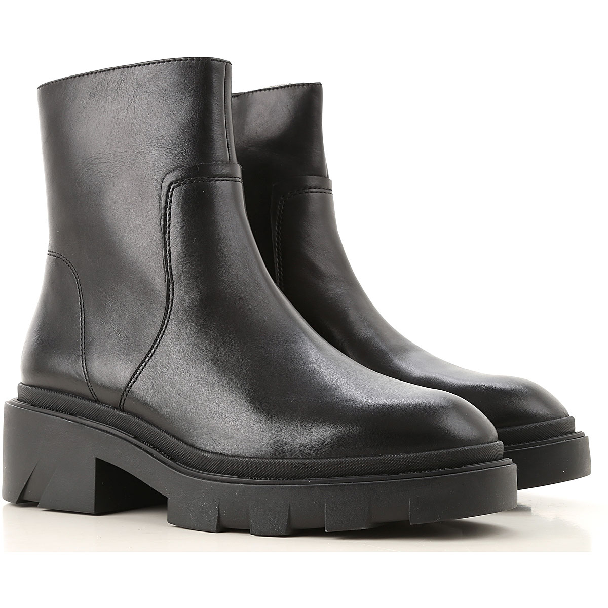Ash Boots for Women, Booties On Sale, Black, Leather, 2019, 10 7 8 9