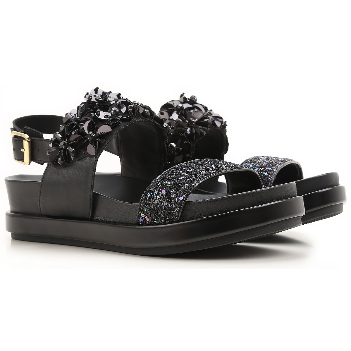 Image of Ash Womens Shoes On Sale in Outlet, Black, Leather, 2017, 6 7