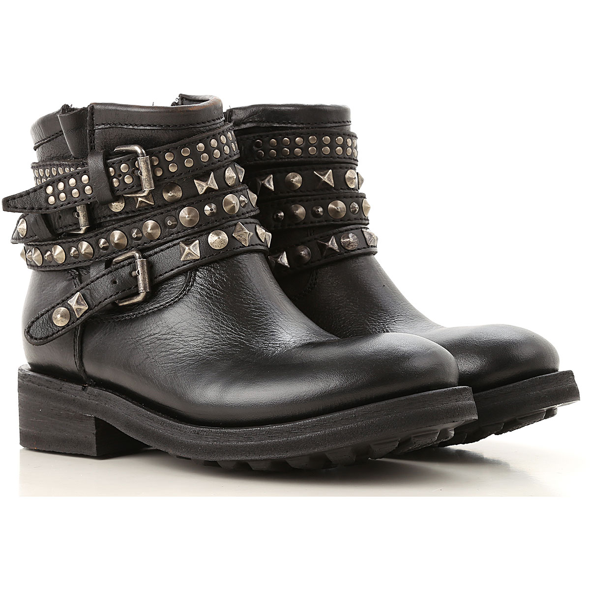 Image of Ash Boots for Women, Booties, Black, Leather, 2017, 10 6 7 8 8.5