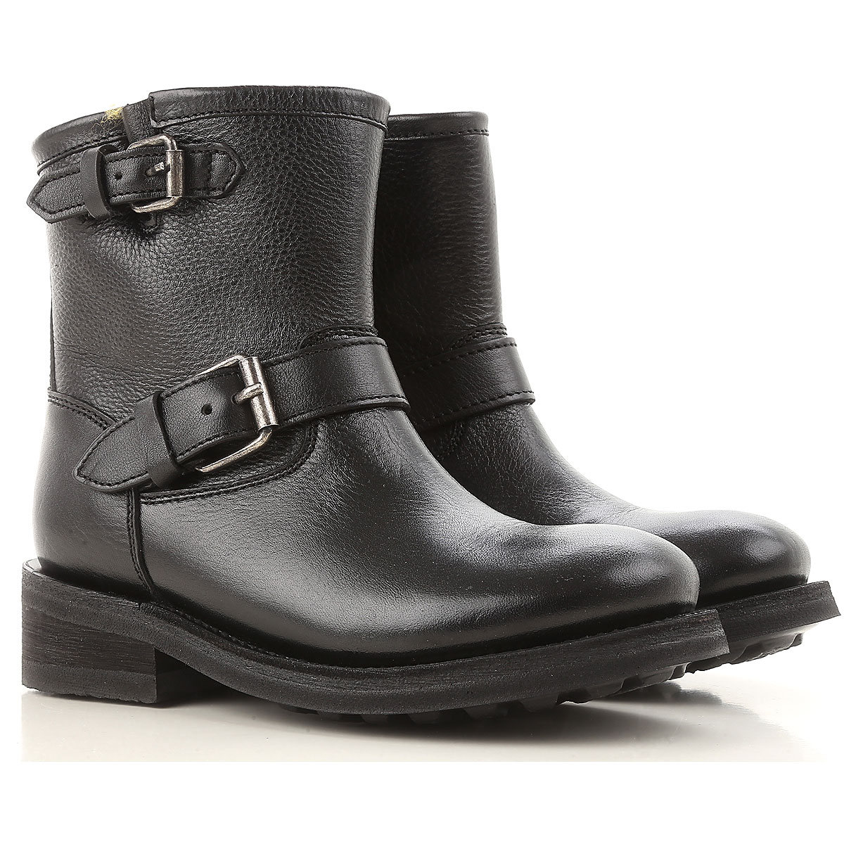 Image of Ash Boots for Women, Booties, Black, Leather, 2017, 10 6 7 8 9