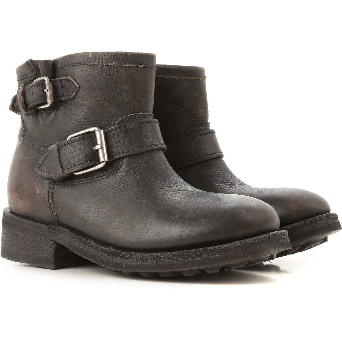 Image of Ash Boots for Women, Booties, Black, Leather, 2017, 6 7 8