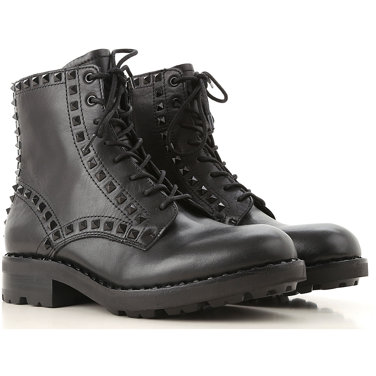 Image of Ash Boots for Women, Booties, Black, Leather, 2017, 10 6 7 8